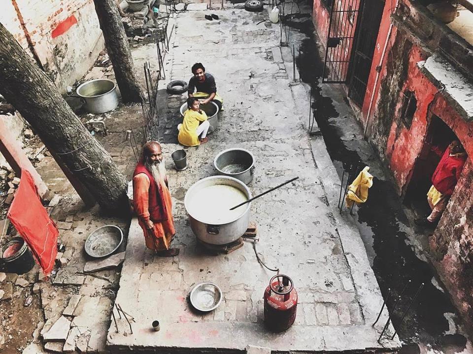 Photo by Emory Hall. Main cooking by ashram sannyasis.