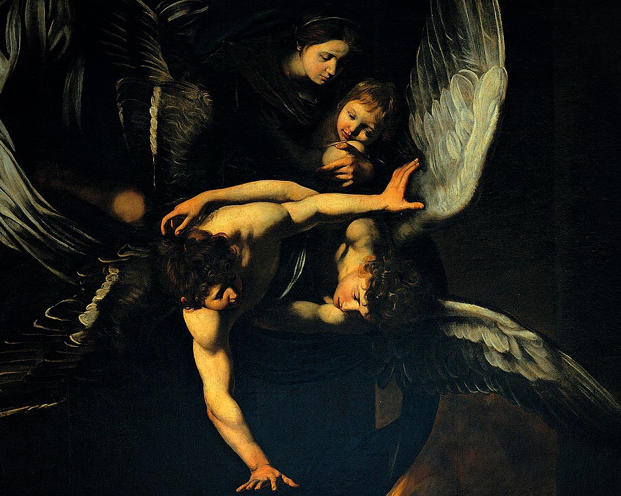 "Detail of ""The Seven Works of Mercy"" (Italian: ""Sette opere di Misericordia"") by the Italian painter Caravaggio (1571-1610)."