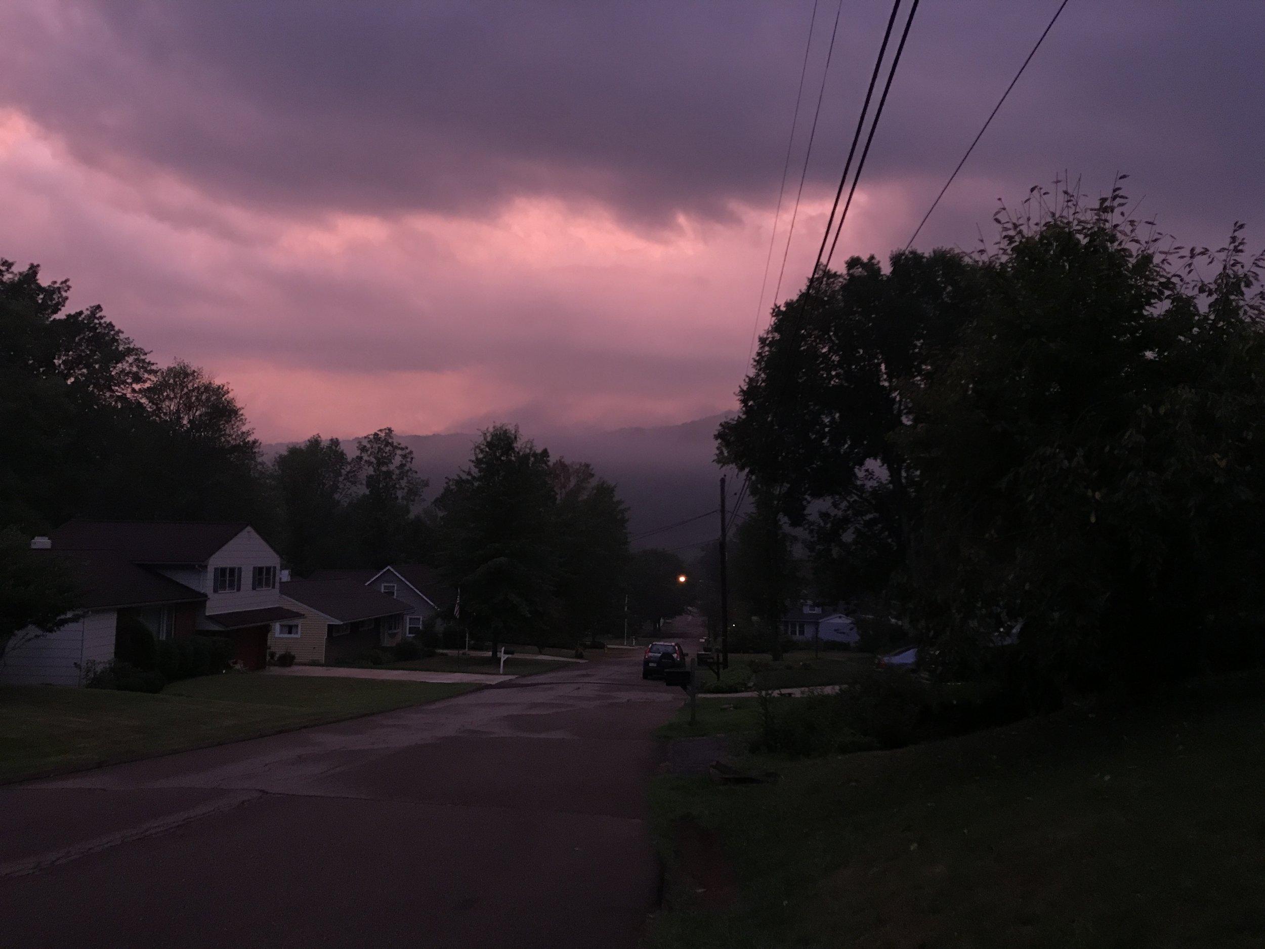 The sky the morning I left for ECSC last August.
