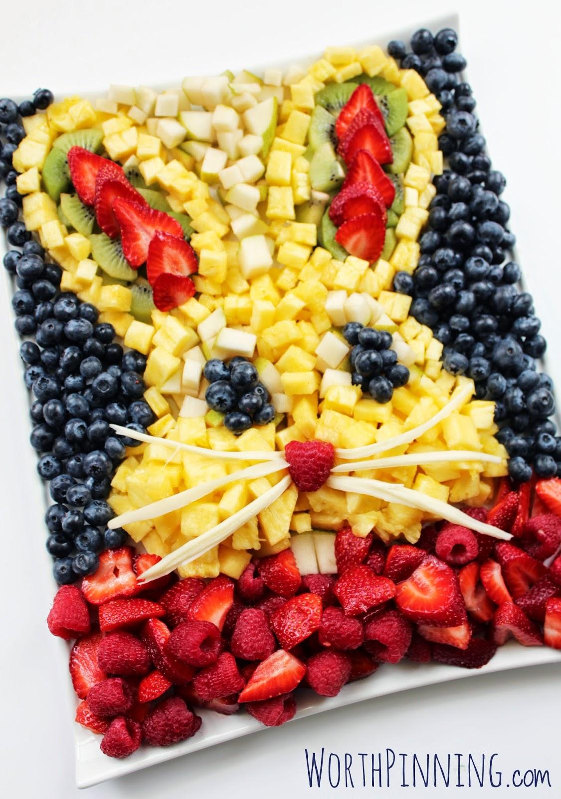 Bunny Head Fresh Fruit Platter - Click for recipe