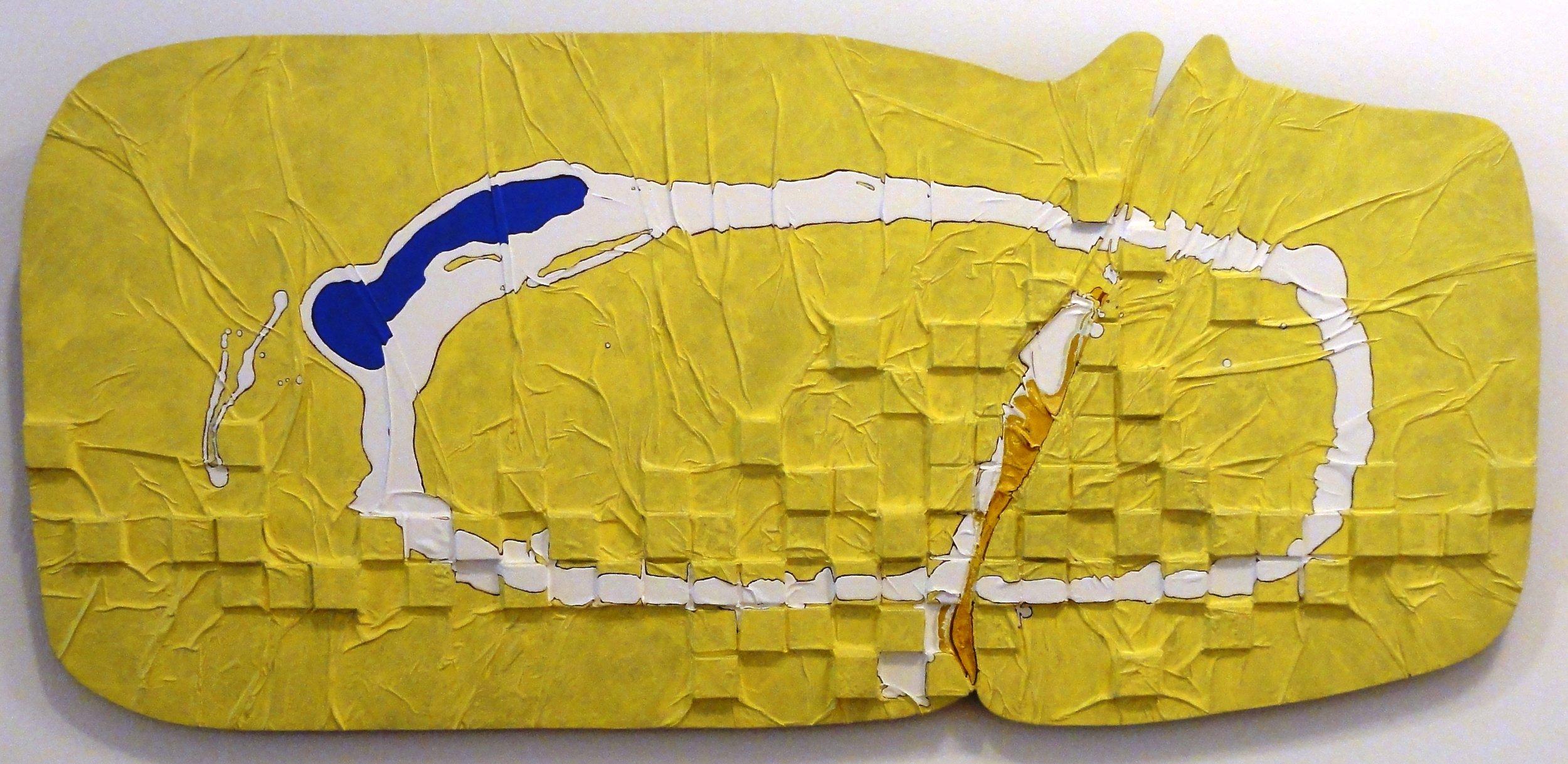 AR1394 -Gilberto Salvador - 73x160 - ASTcolada em Madeira - 2003 -Paisagem Matinal.JPG