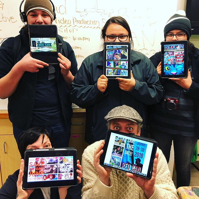 Wingspan Media had a great Digital Media Arts iPad Workshop with some talented youth at the Cheyenne River Youth Project this week!