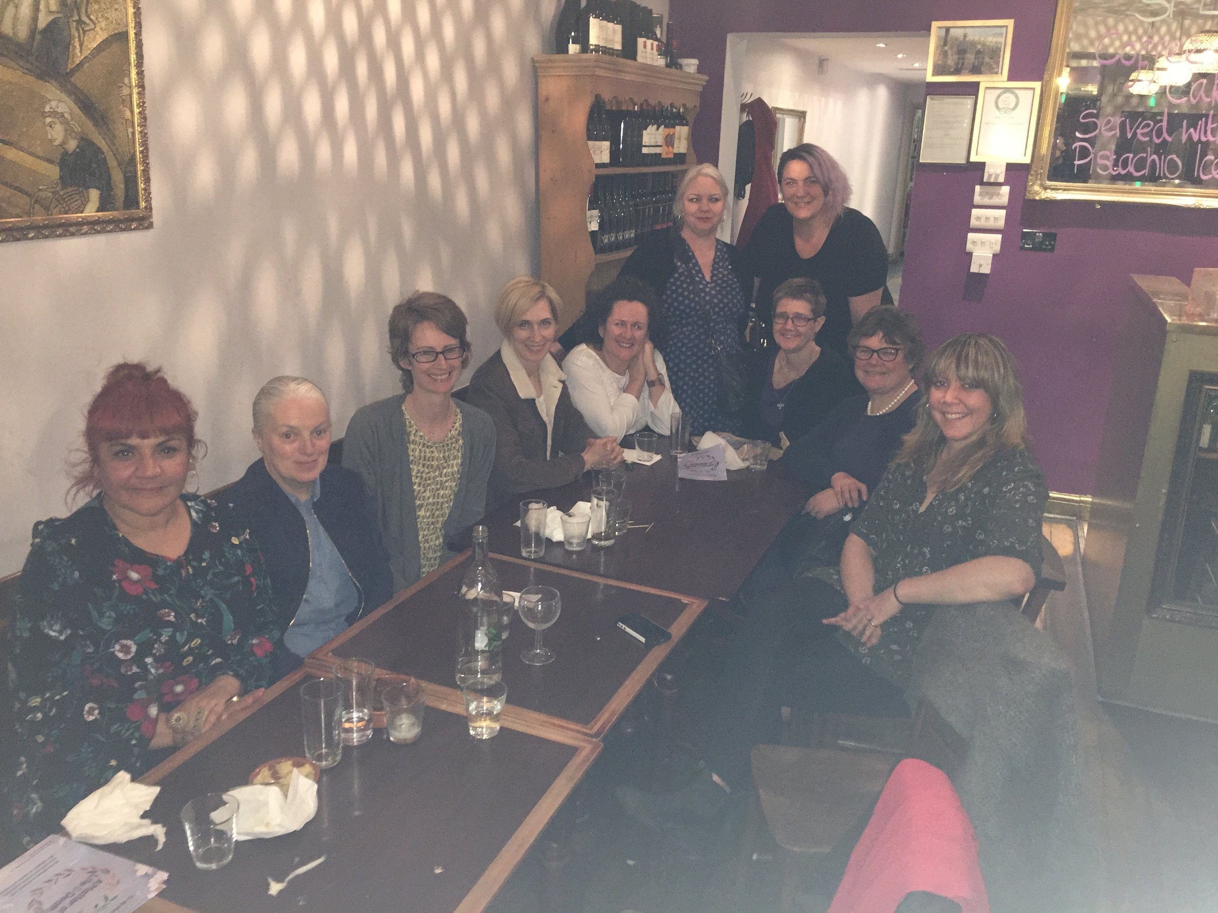 Blurry photo of dinner with some of the incredible BRUM YODO crew in Birmingham.