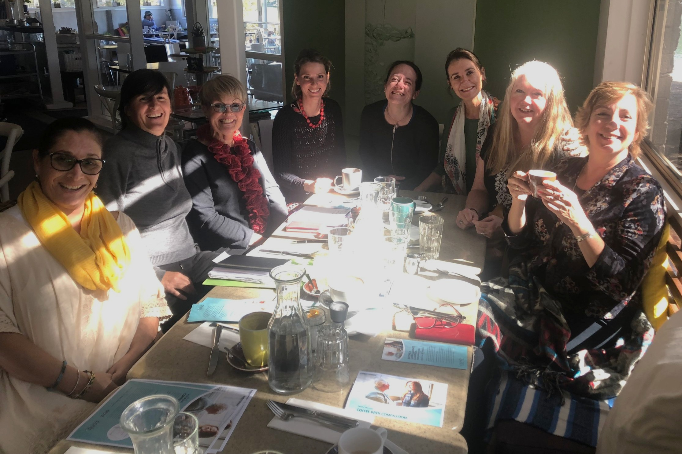 Northern Beaches ComCom Group kicks of their monthly Coffee with Compassion Group