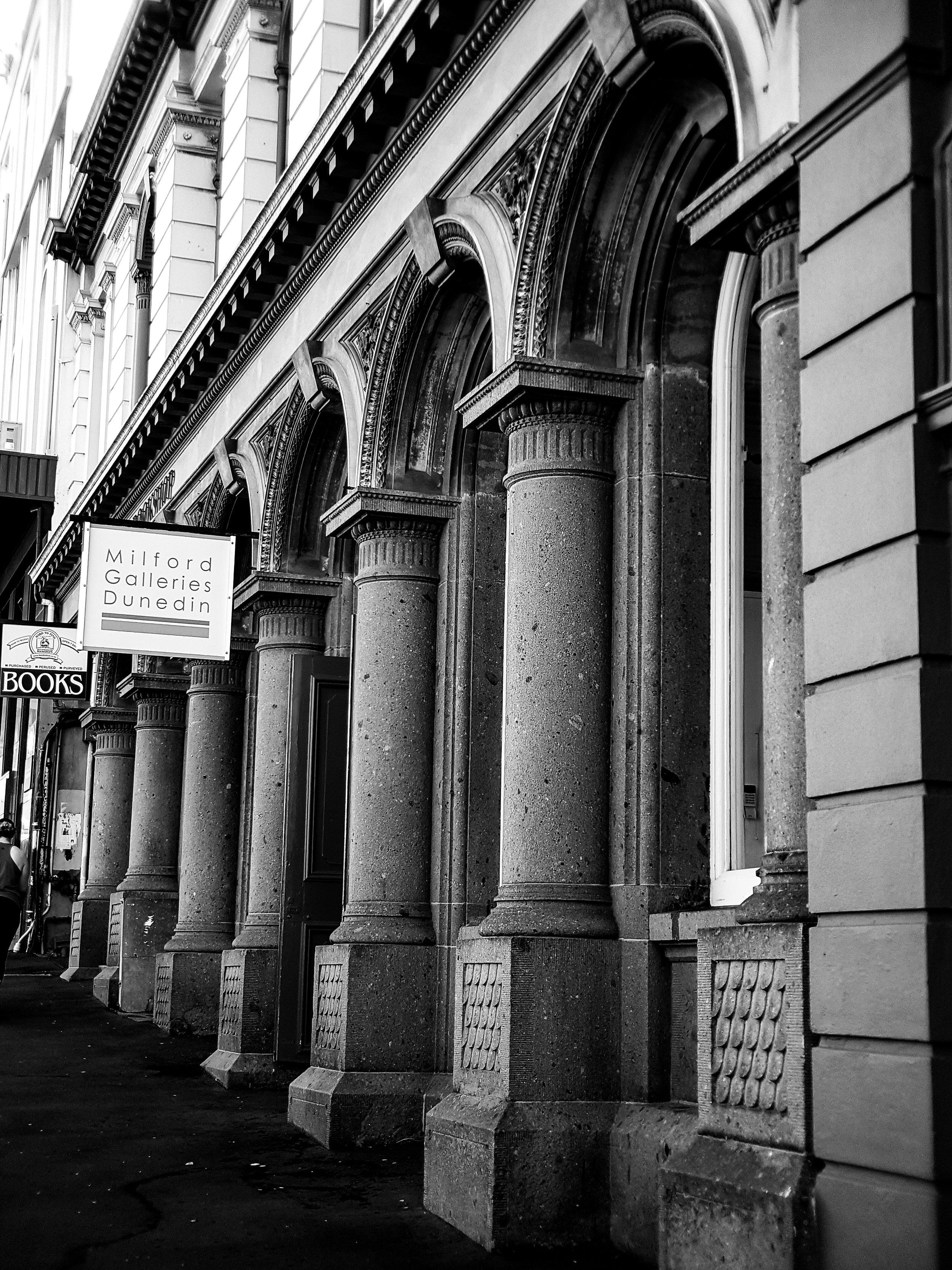 heritage building archways Dunedin