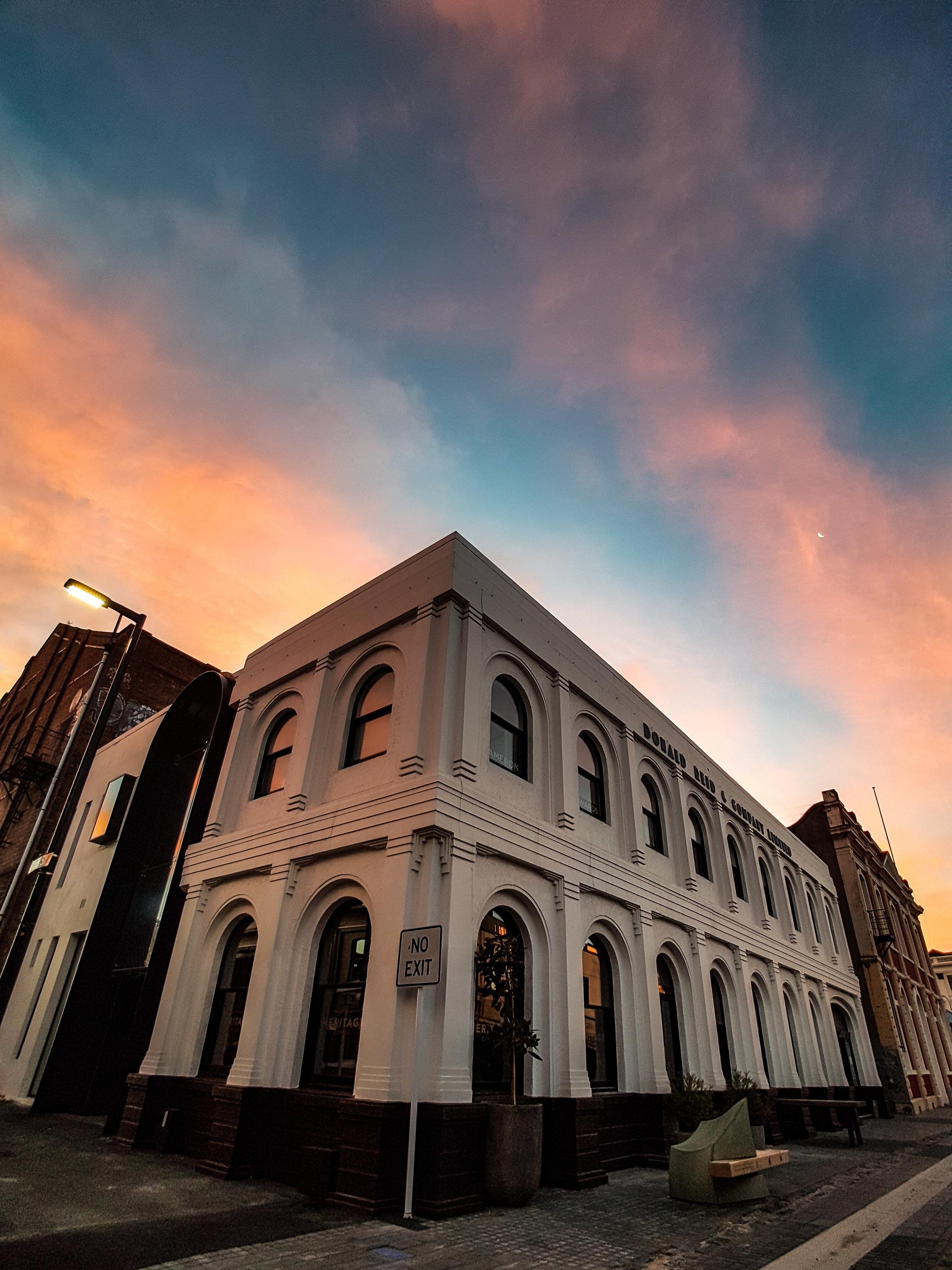 Heritage coffee warehouse precinct Dunedin