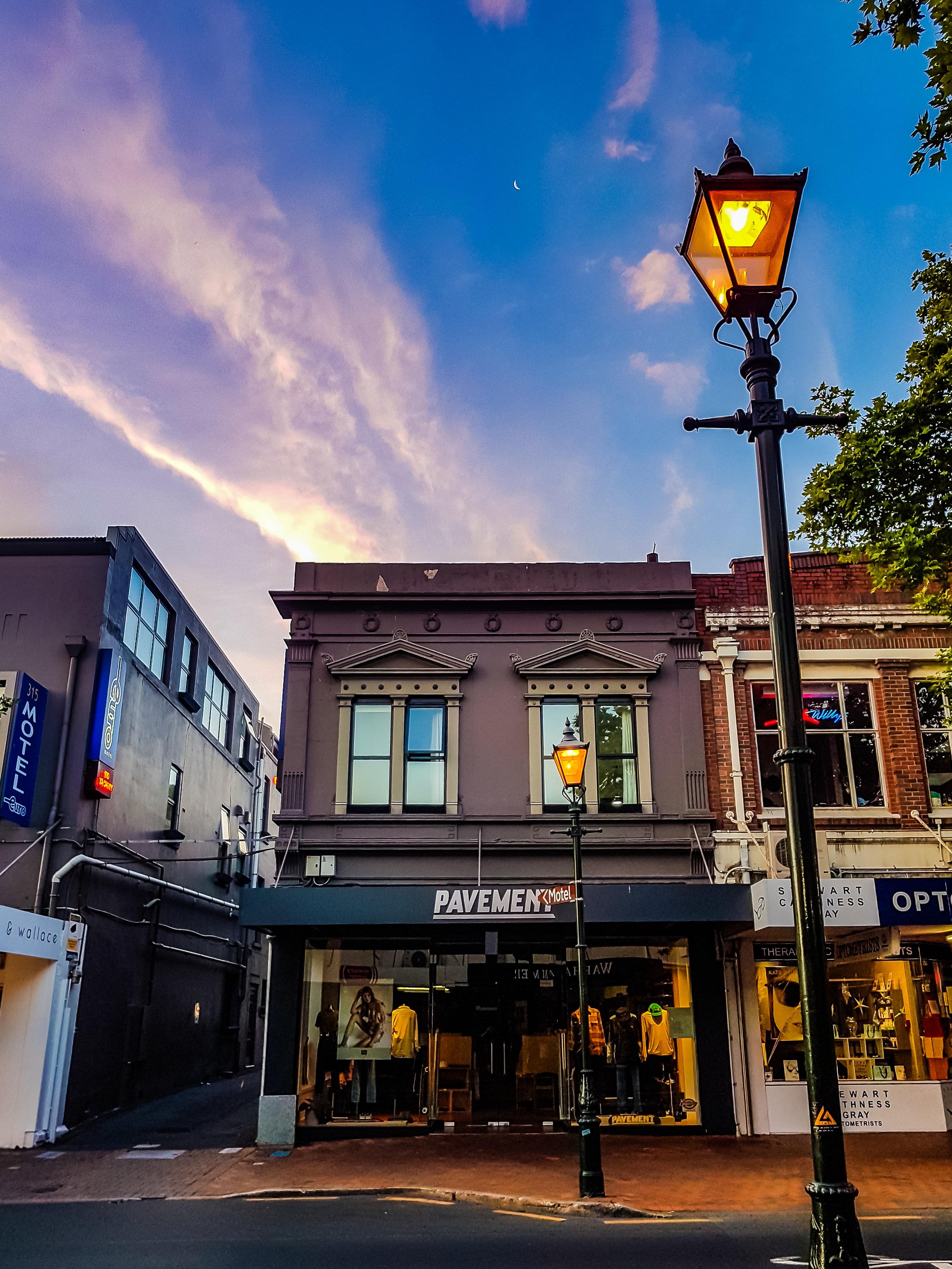 Pavement urban Dunedin