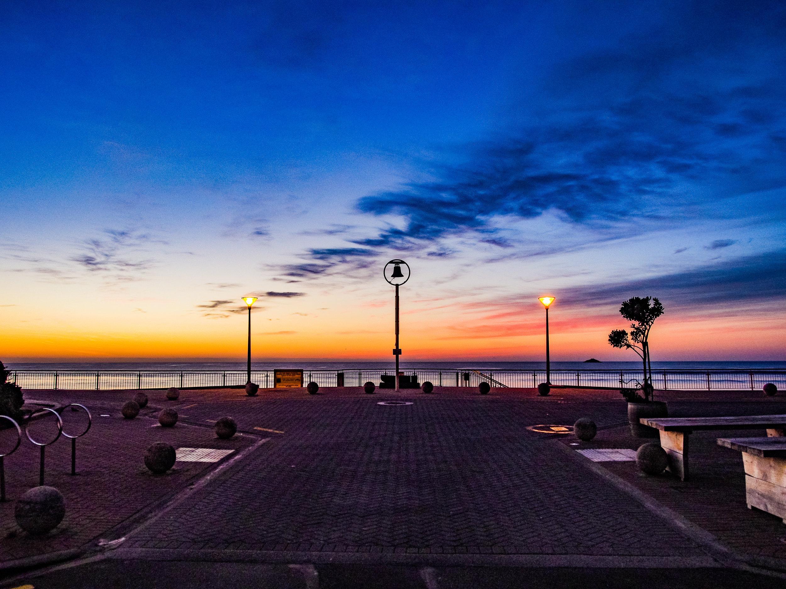 St Clair beach sunrise Dunedin