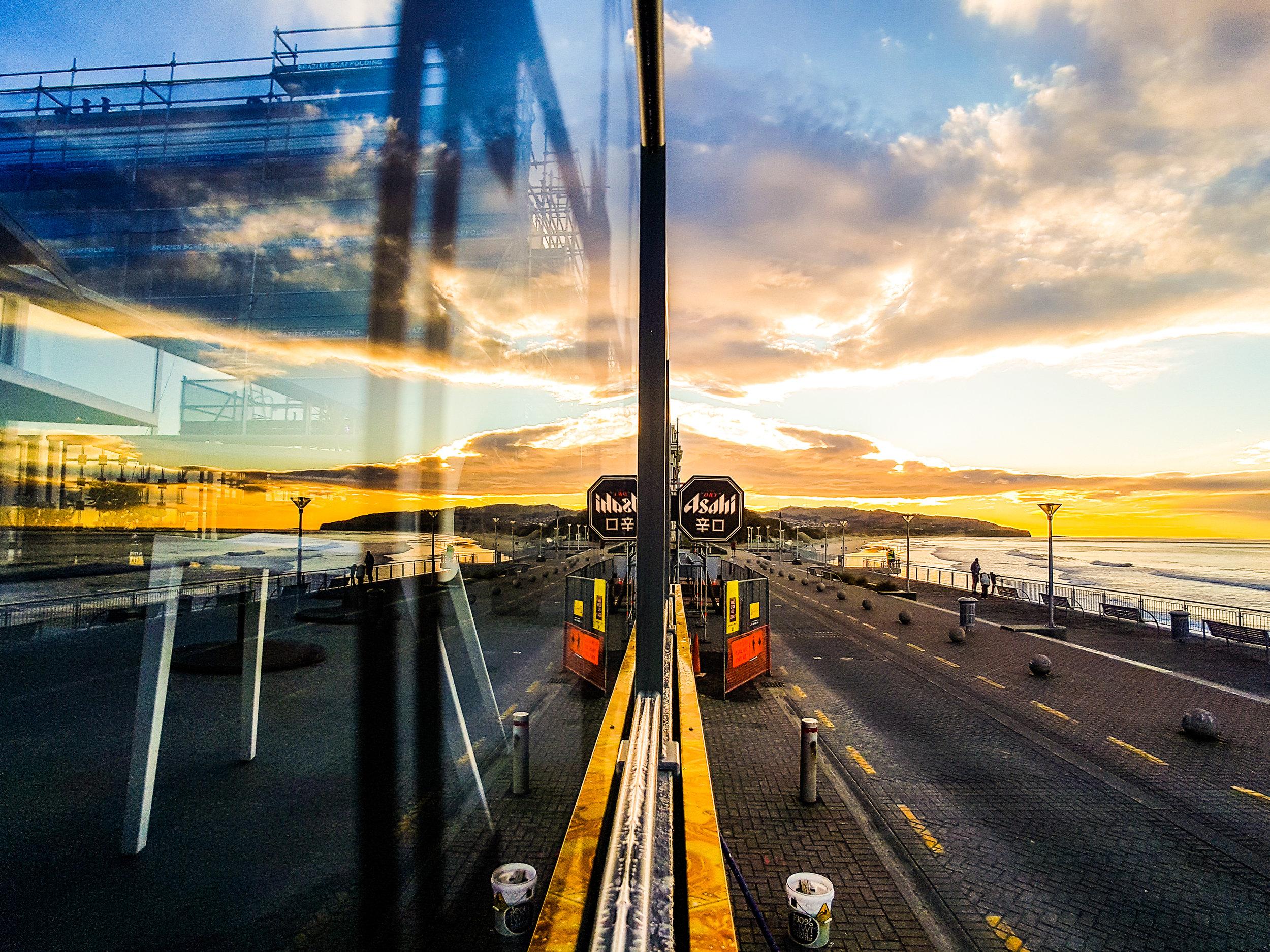 Window reflection St Clair Dunedin