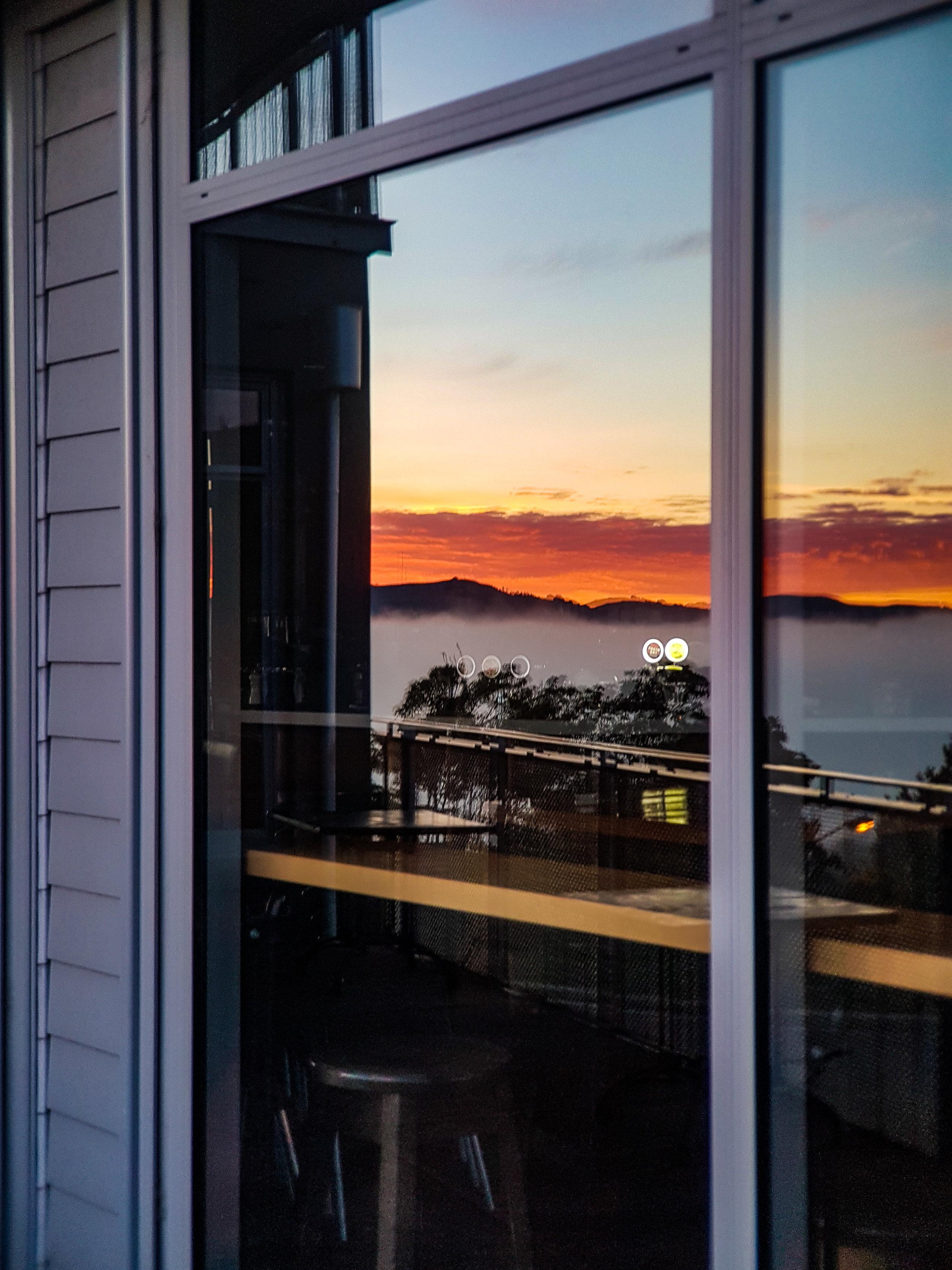 Luna bar Dunedin table in a window
