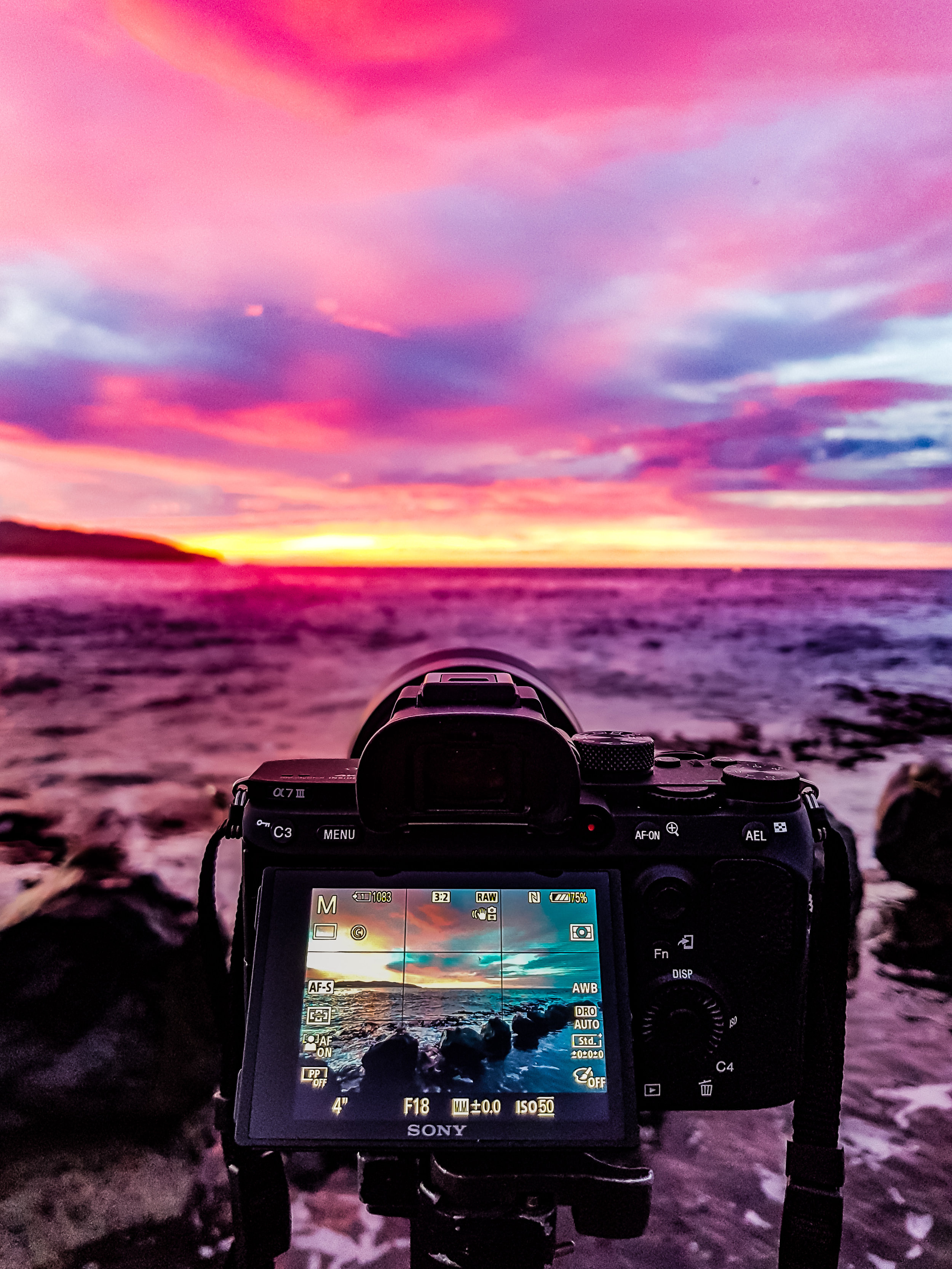 Signing off... - with the Sony at work last week capturing an epic sunrise from the breakwater by the Salt Water Pool at St Clair. (Image follows)
