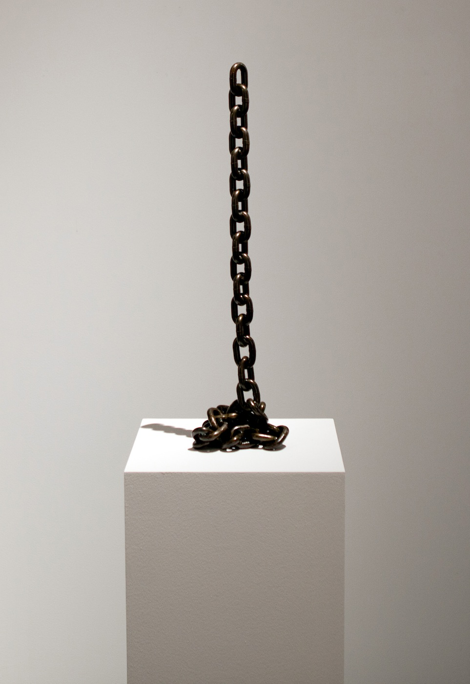 Judith Hopf  Endings 2011 Iron, Varnish  100 cm tall