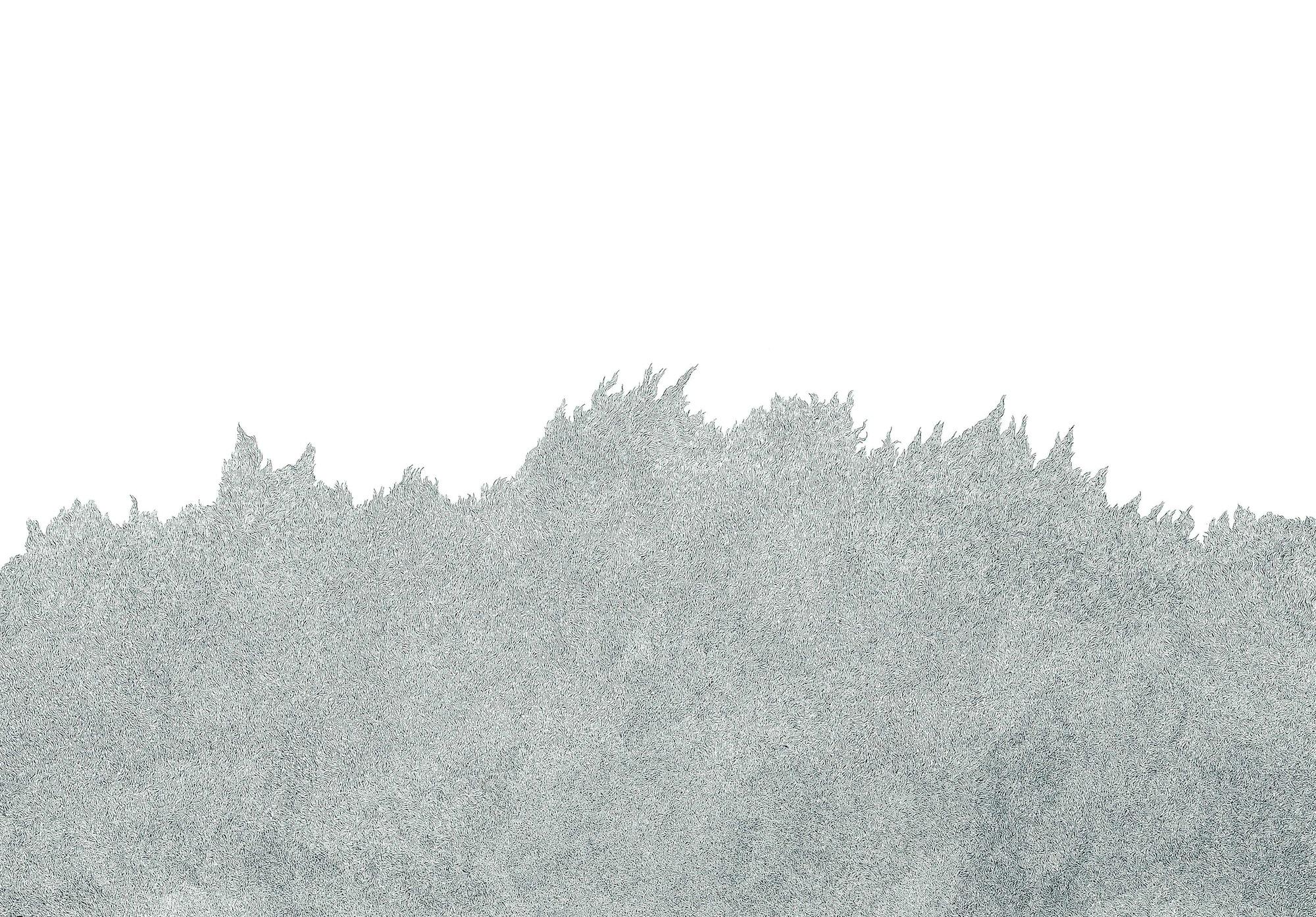 The Burning 2012 Felt tip pen on paper 107.4 cm x 154.3 cm