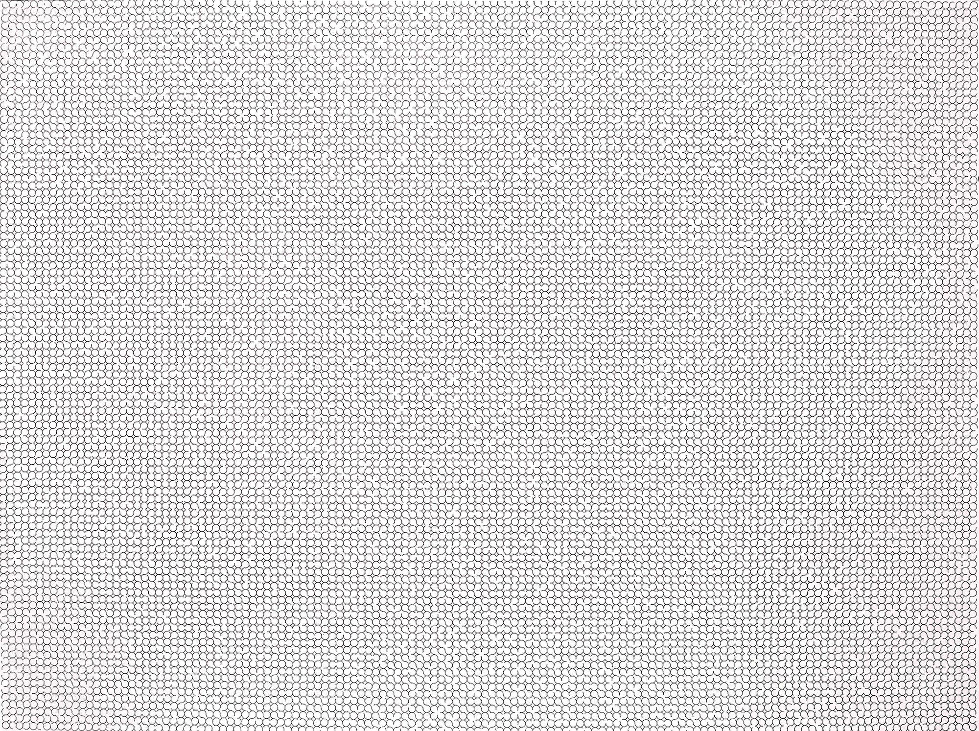 The gaps 2013 Felt tip pen on paper 153 cm x 205.8 cm