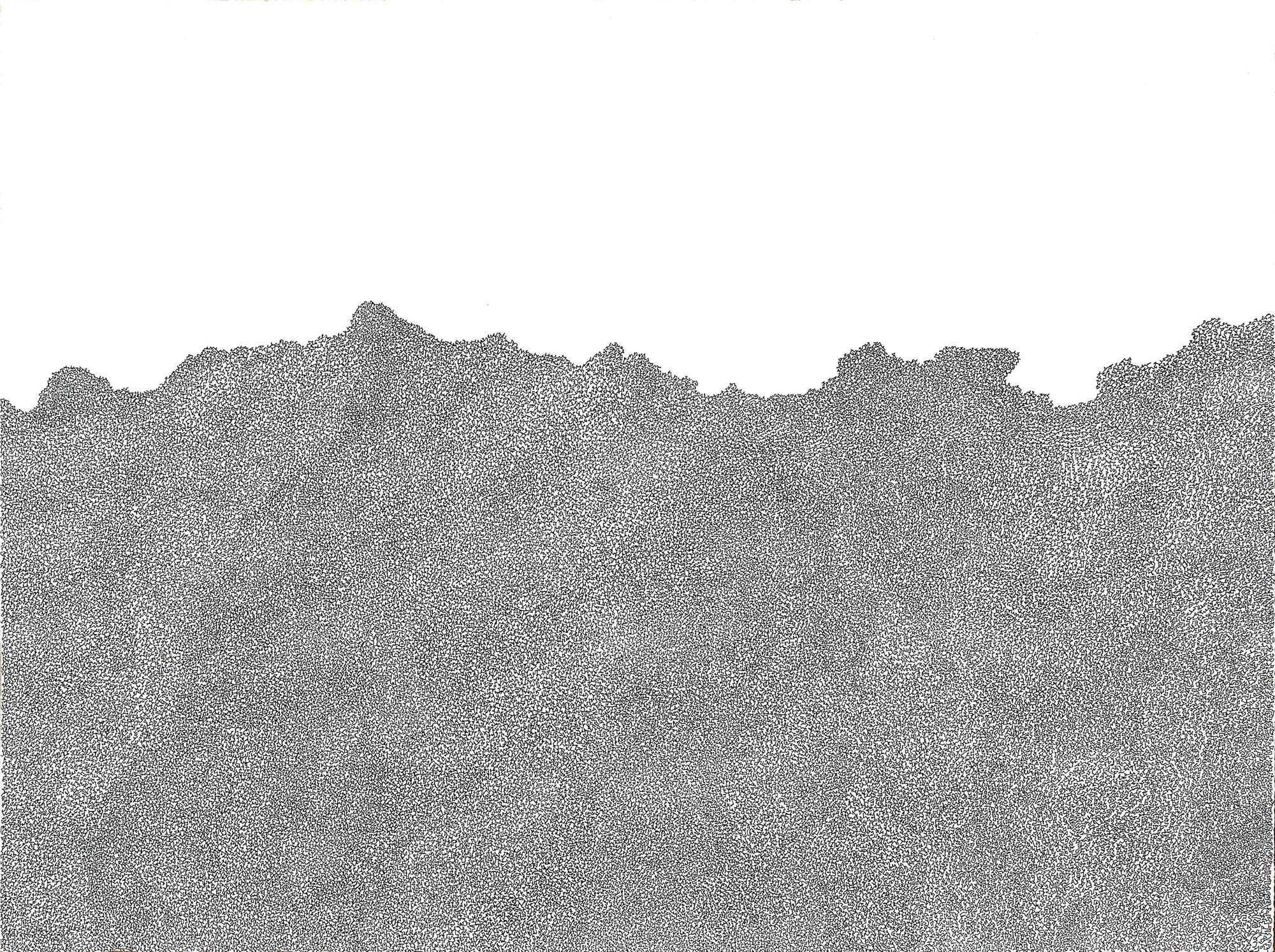 One thread 2012 Felt tip pen on paper 56.5 cm x 76 cm