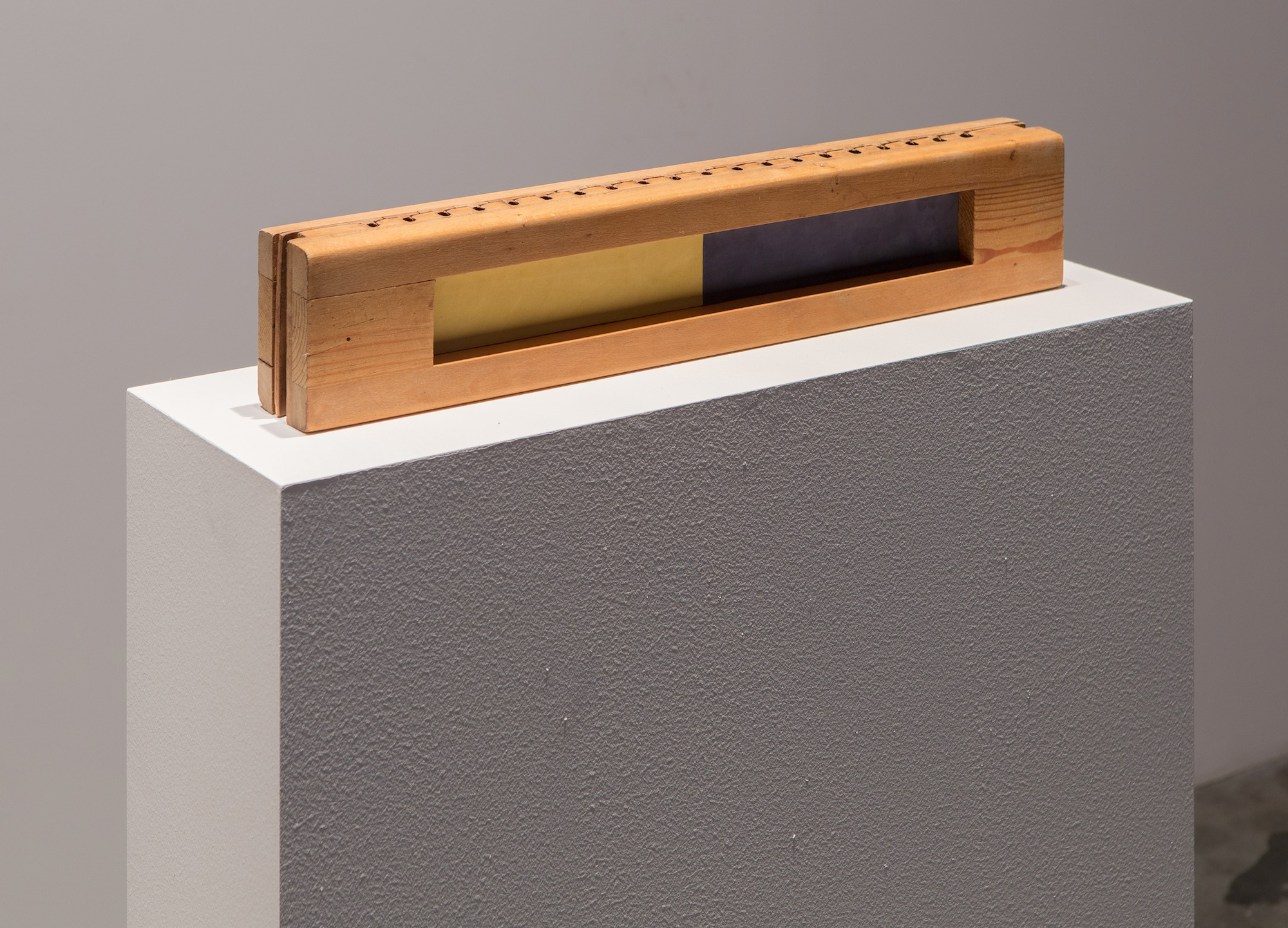 Objected 2 2013 Wood sculpture 6.5 x 56 x 10 cm