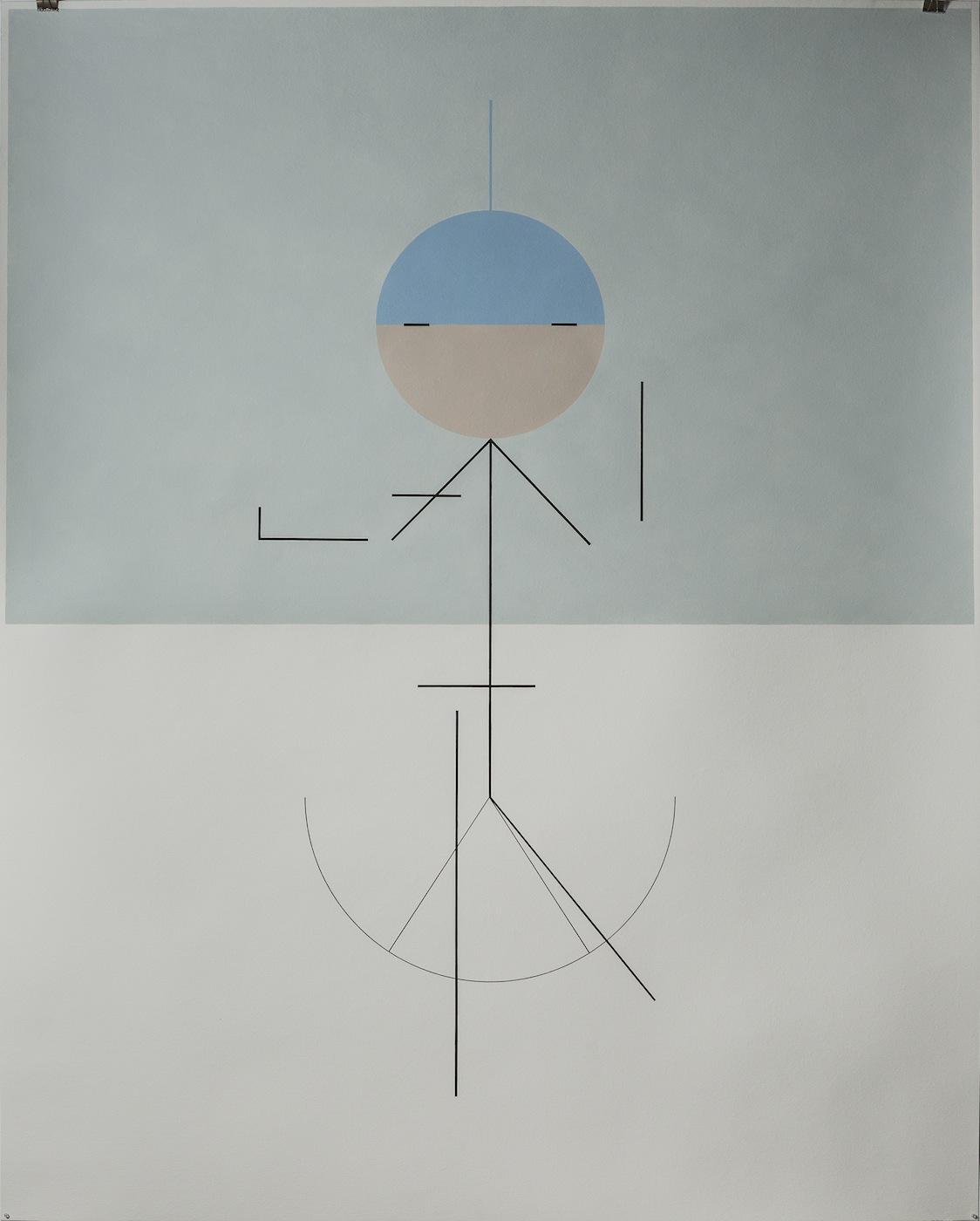 Bliss 2014 Acrylic on paper 152 x 122 cm