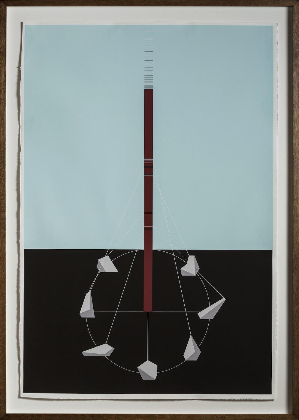 Ancestor's Circle 2013 Screen print on paper 112.5 x 76.5 cm Edition 20 + 1 AP