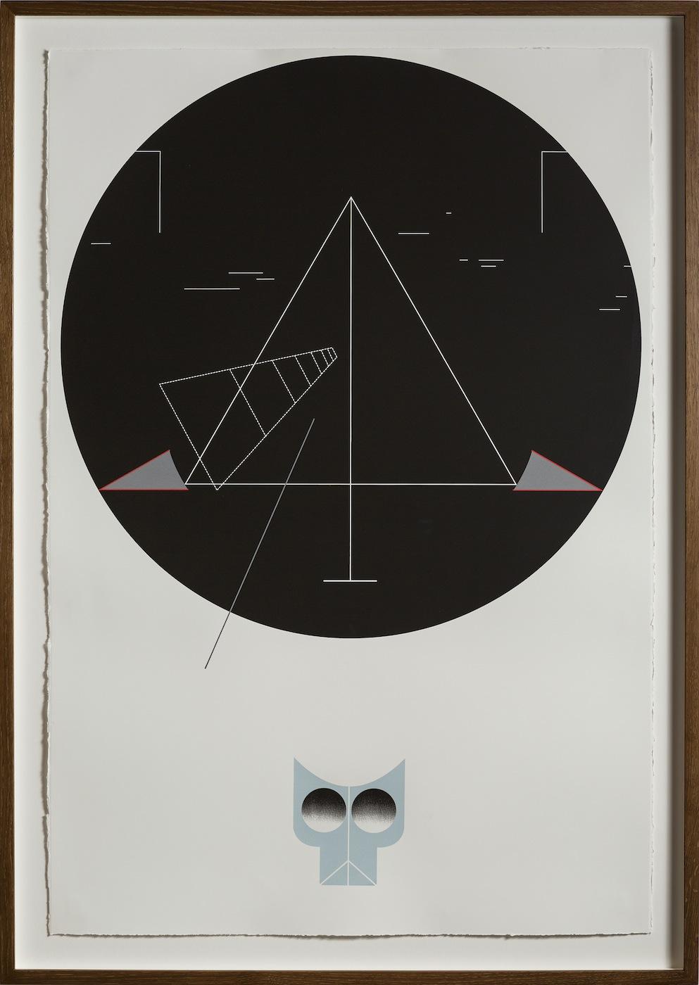 Night Walk 2013 Screen print on paper 112.5 x 76.5 cm Edition 5 + 1 AP