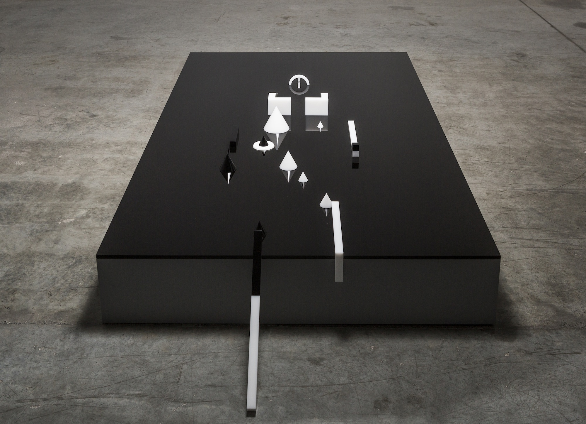 Residuum 2014 Perspex and MDF 213.36 x 121.92 (perspex) Variable dimensions (19 parts)