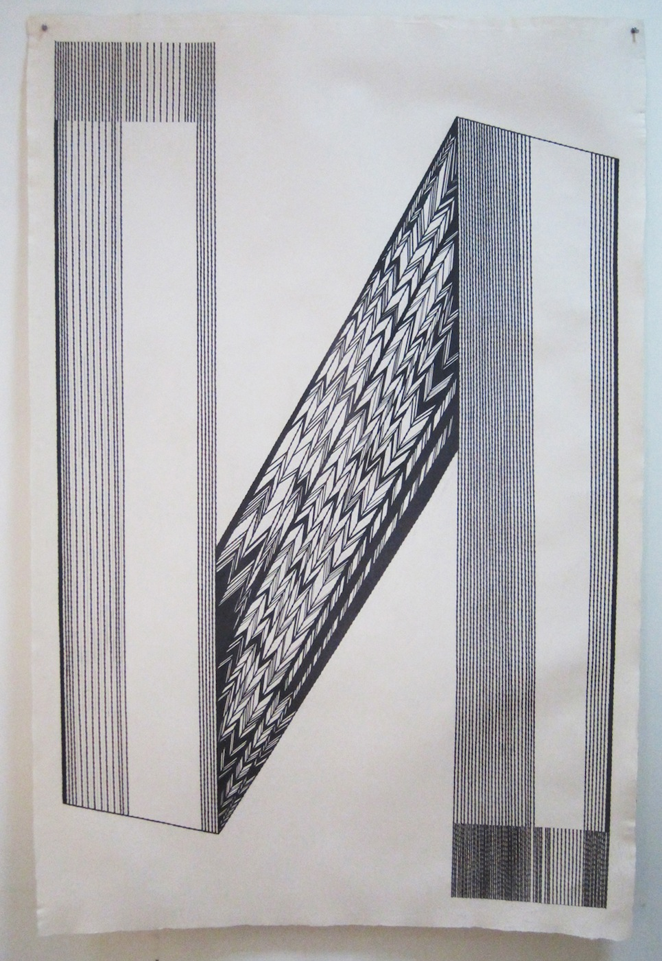 Alyssa Pheobus Mumtaz  Composure 2010 Graphite on handmade paper 152.4 x 101.6 cm