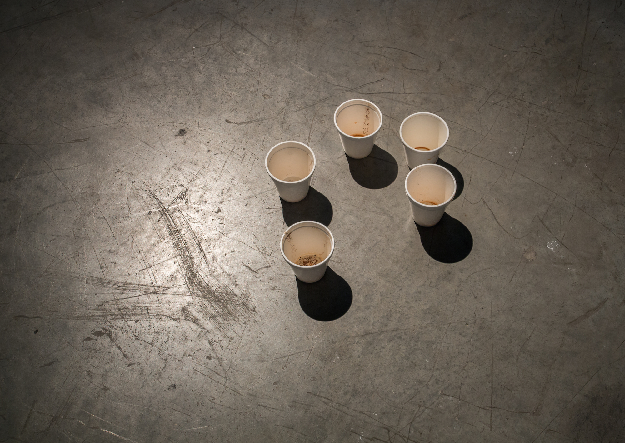 A number of styrofoam cups 2014 Variable dimensions