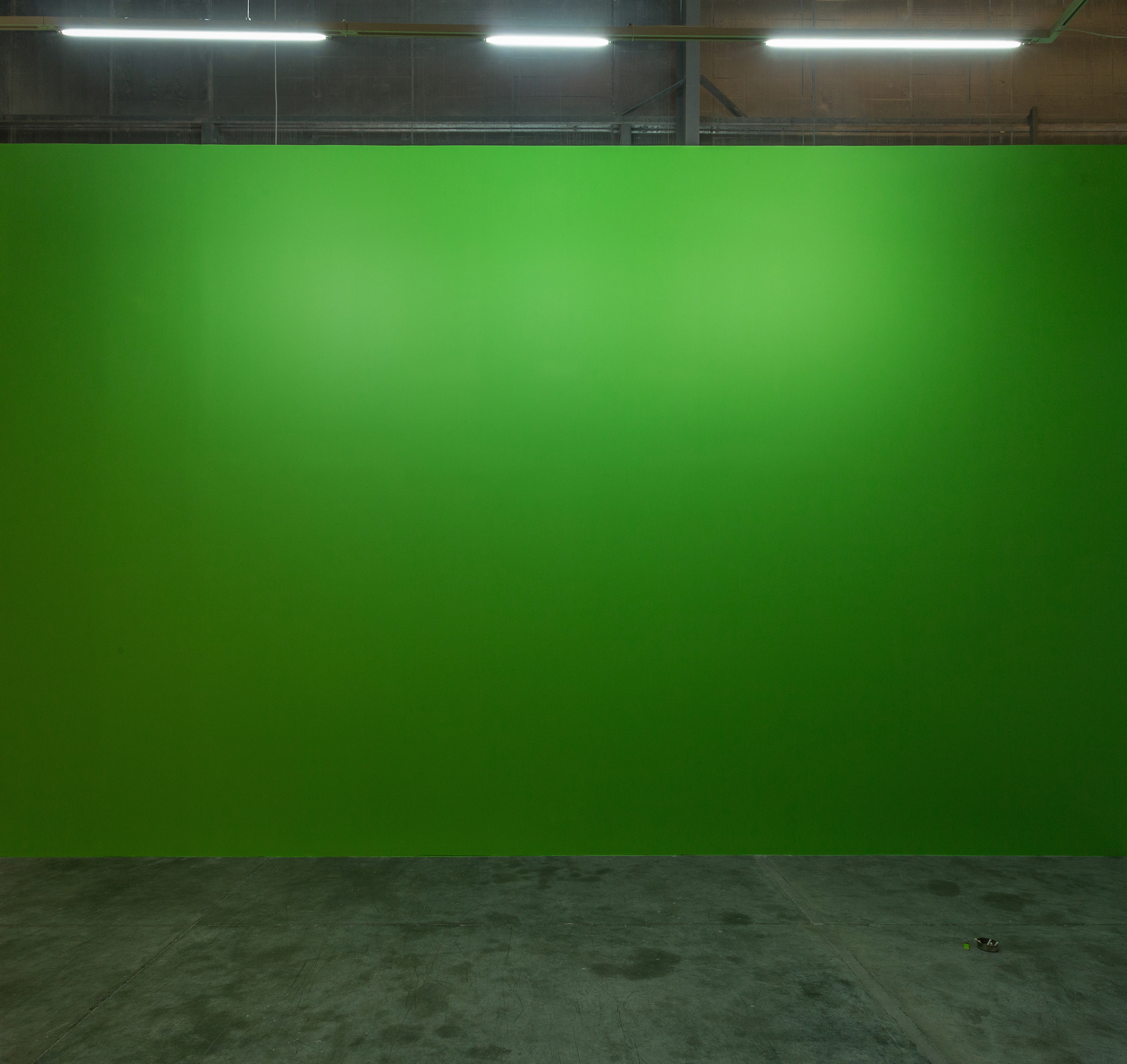 Green wall Fluorescent light, Hassan's ashtray 2014 Variable dimensions