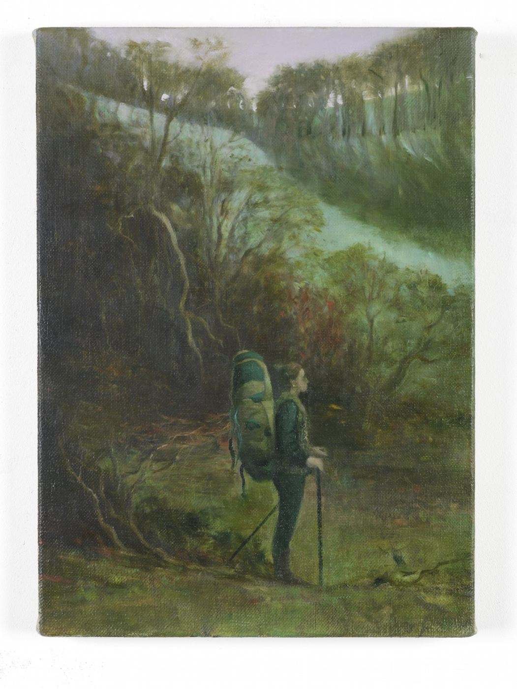 The Walker 2014 Oil on linen 36 x 25 cm