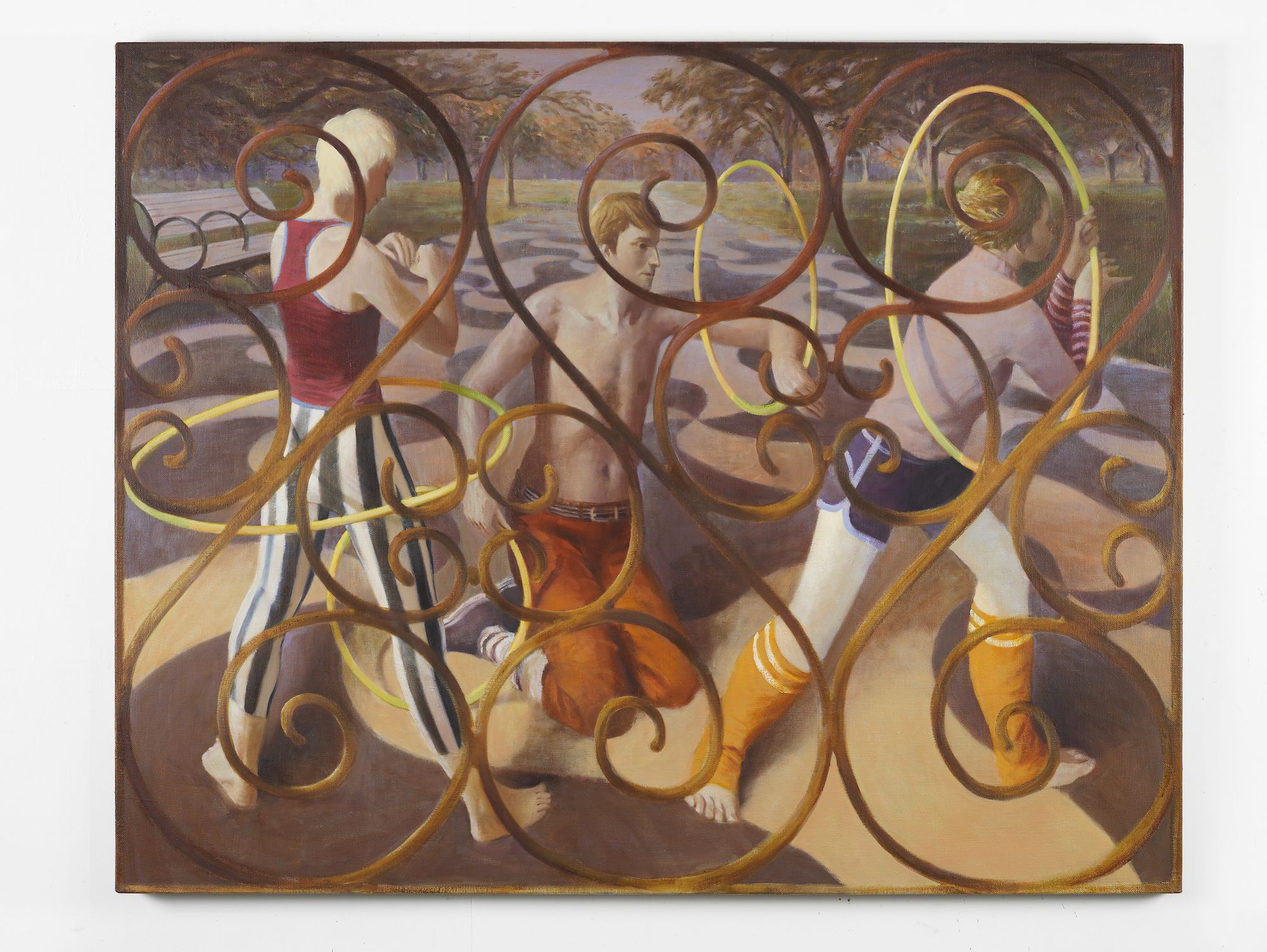 Rings VIII (Parade) 2014 Oil on linen 120 x 150 cm