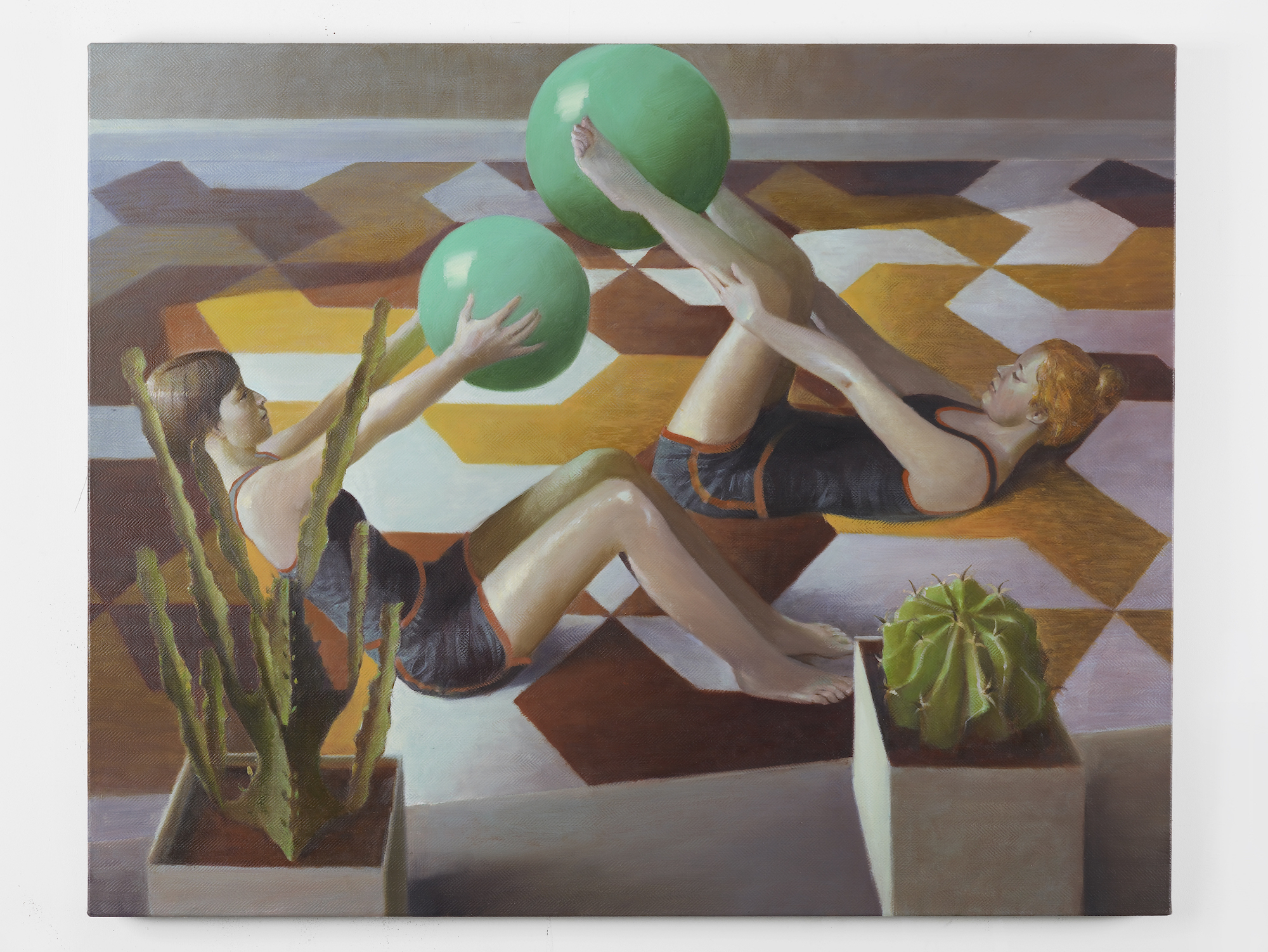 Ball Games V 2014 Oil on linen 80 x 100 cm