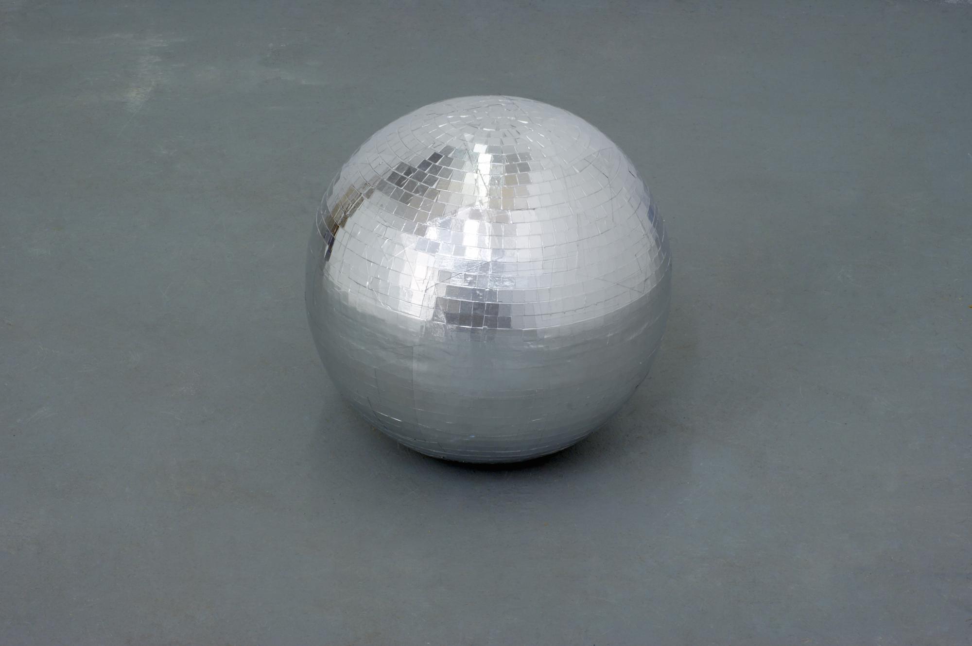 Caline Aoun  Disco ball 2015 Plaster, aluminum tape 40 cm diameter