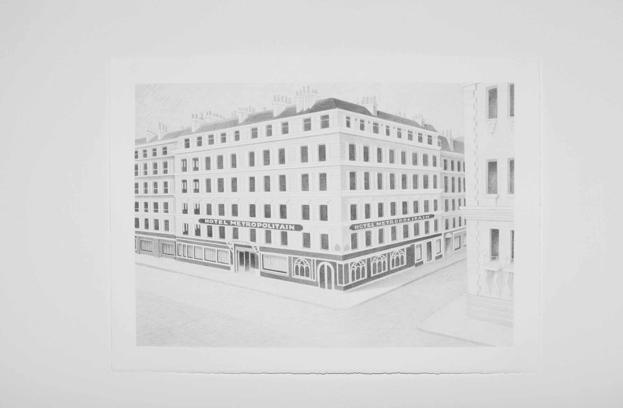 Metropolitan Hotel 2015 - 2016 Colour pencil on paper 47 x 68 cm ea.