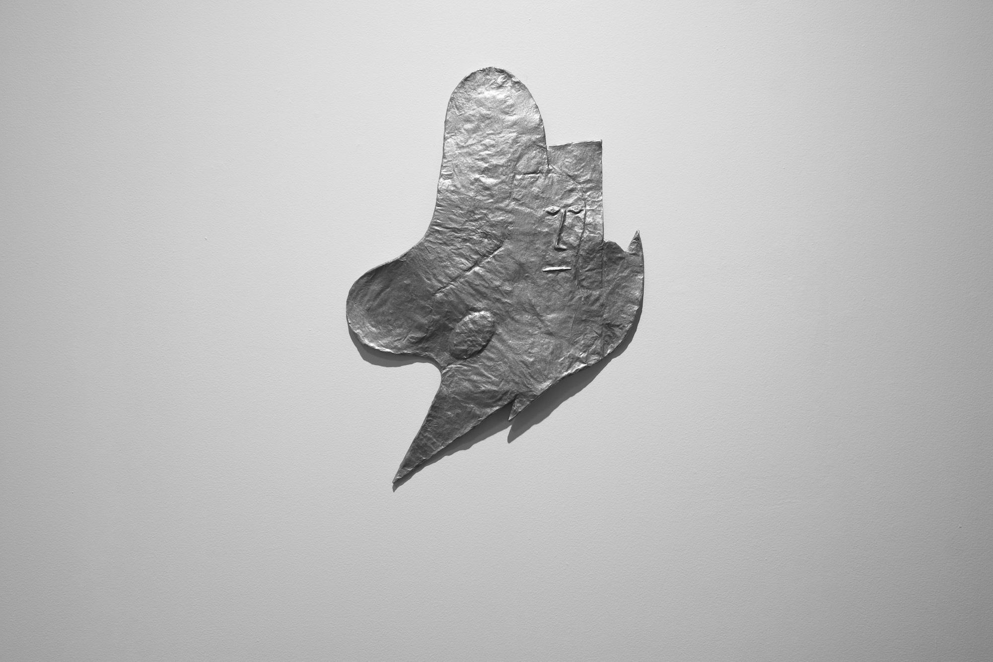 Rodrigo Hernández  Finally free 2017 Papier-maché, wood, metal lacquer 71 x 50 x 2.5 cm