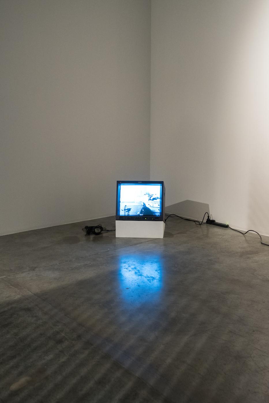 Ange Leccia  Autoportrait à l'atelier 2016 (archives 1994) Video, sound 6 mins 32 sec