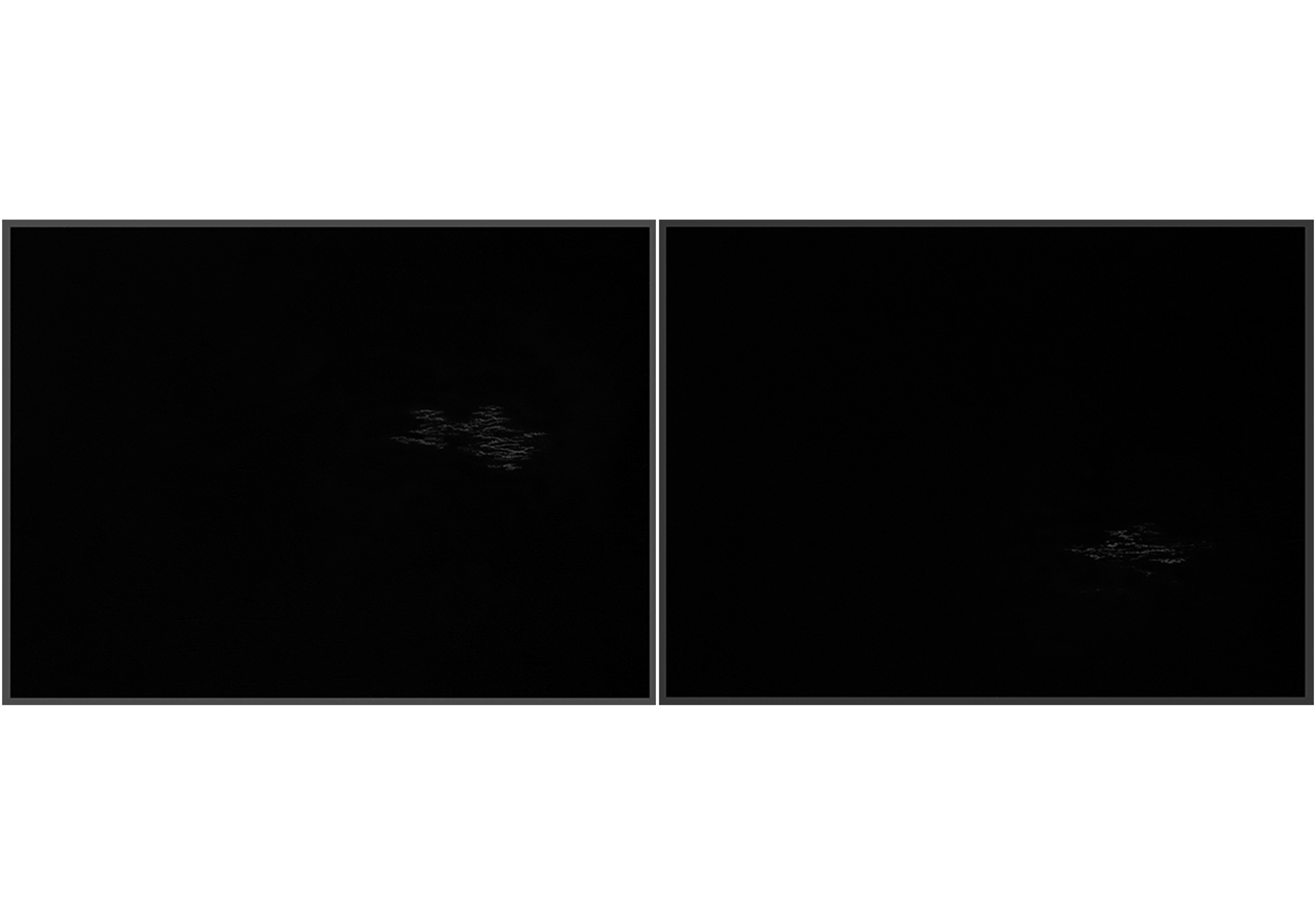 Lala Rukh  Nightscape II (1, 2 - diptych) 2011 Graphite on carbon paper 20.32 x 26.67 cm each