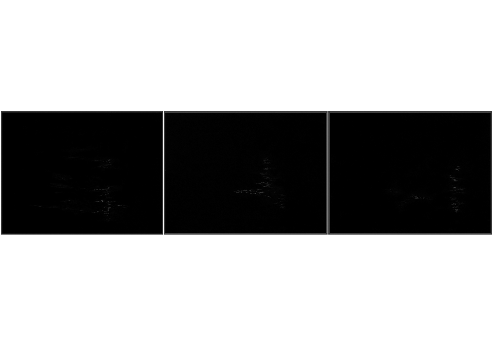 Lala Rukh  Nightscape II (8, 9, 10 - triptych) 2011 Graphite on carbon paper 20.32 x 26.67 cm each