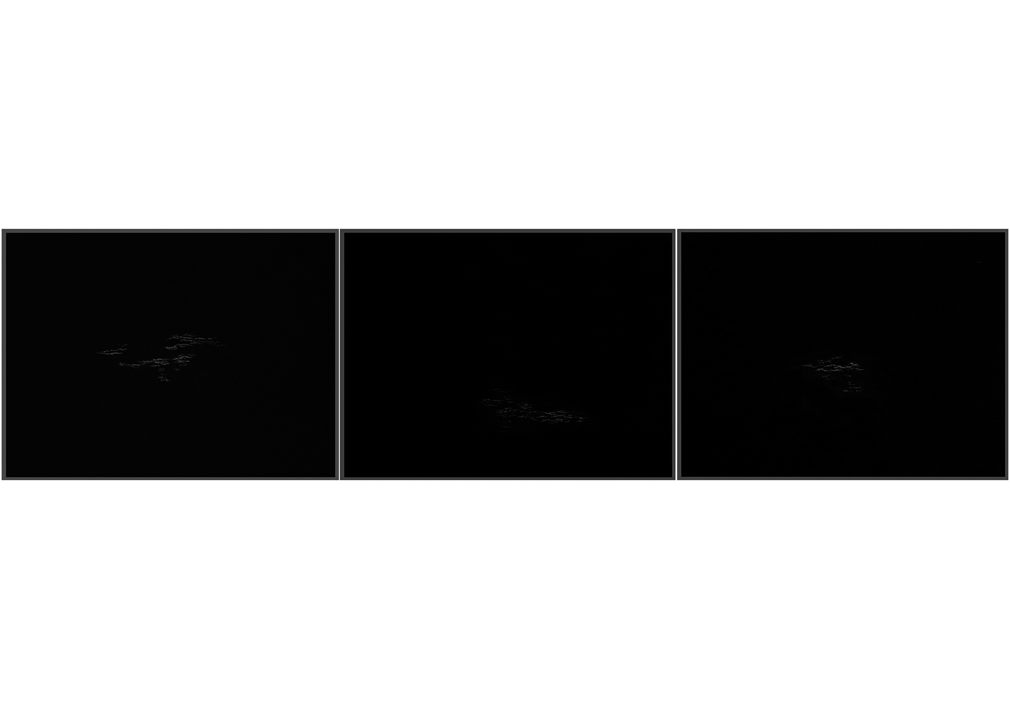 Lala Rukh  Nightscape II (12, 13, 14 - triptych) 2011 Graphite on carbon paper 20.32 x 26.67 cm each