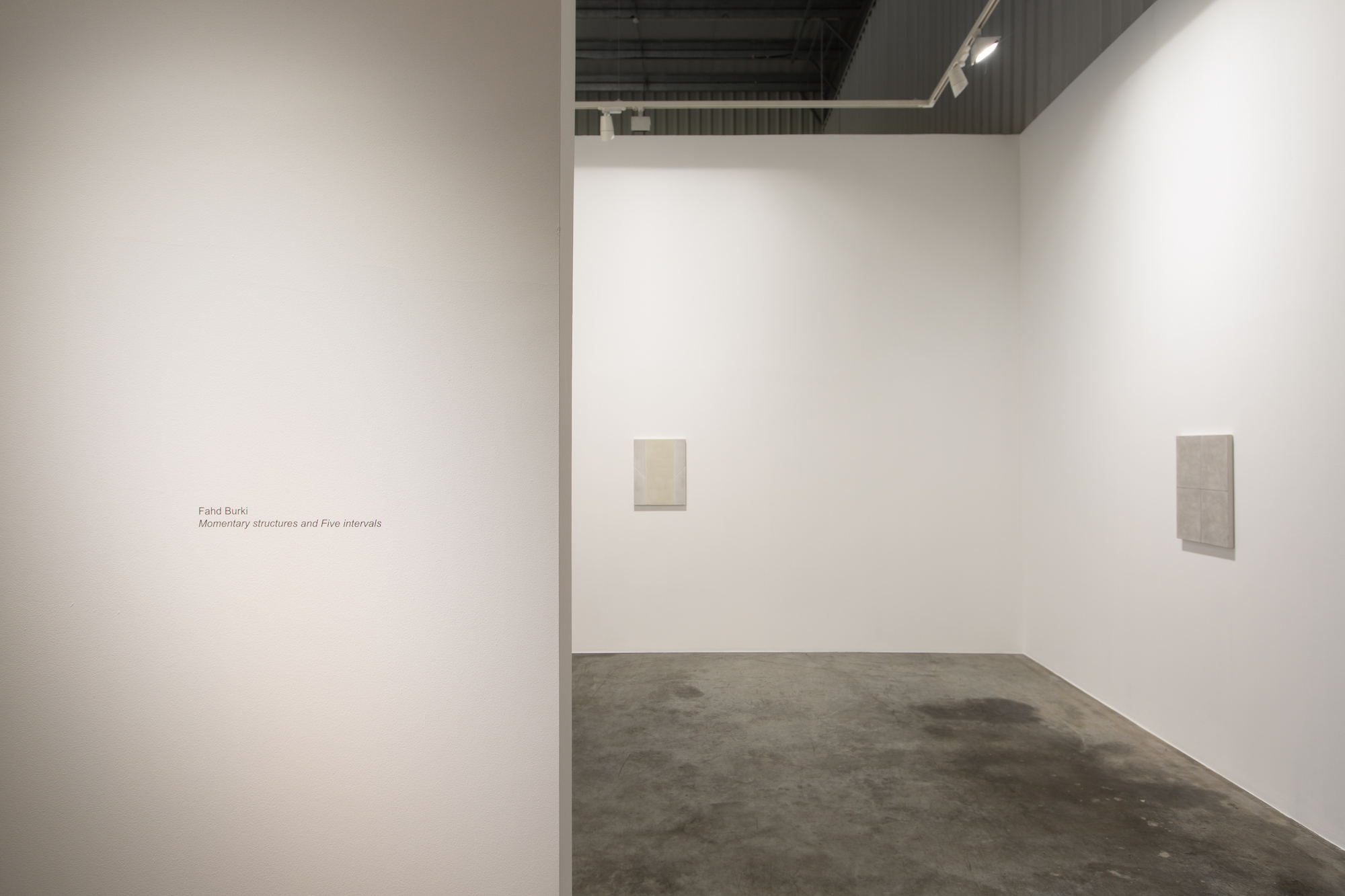 Installation view / Momentary structures and Five intervals