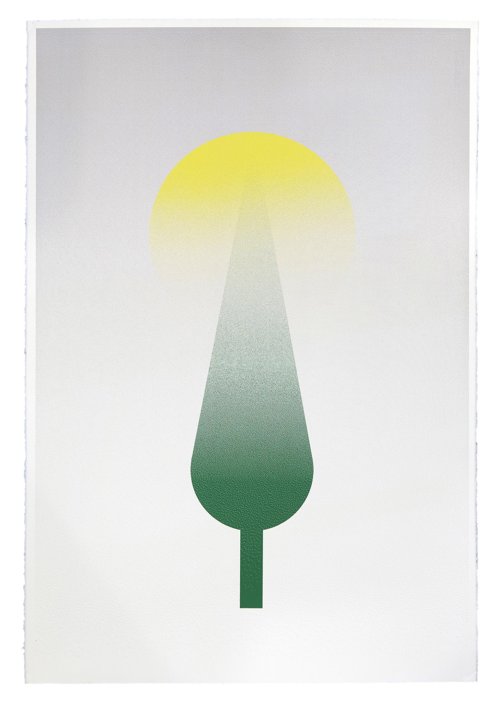 Fahd Burki   Toward Light 2013 Screen print on paper 112.5 x 76.5 cm