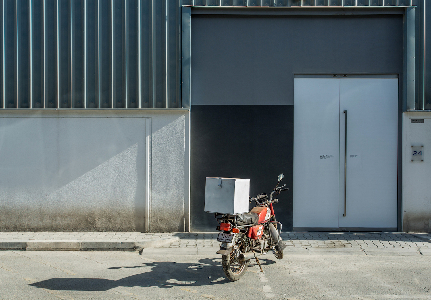 Lantian Xie  Home-delivery motorcycle parked outside 2014 Home-delivery motorcycle Dimensions variable