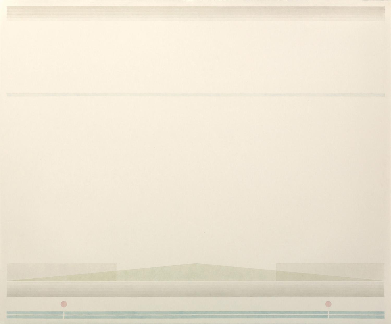 Fahd Burki  Fairweather 2016 Graphite pencil and acrylics on paper 56.5 x 68.5 cm