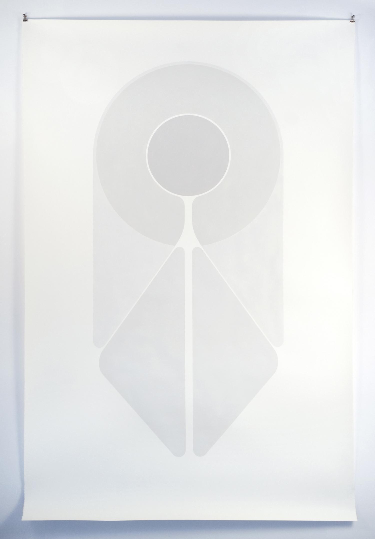 Saint 2011 Acrylic on paper 218.44 x 139.7 cm