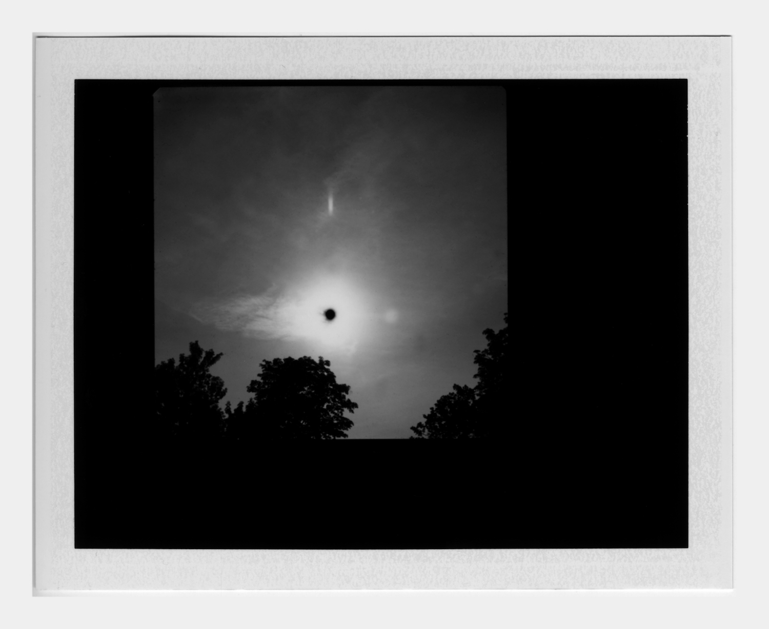 Transit of Venus (2) 2012 Framed Polaroid 22 x 24 cm