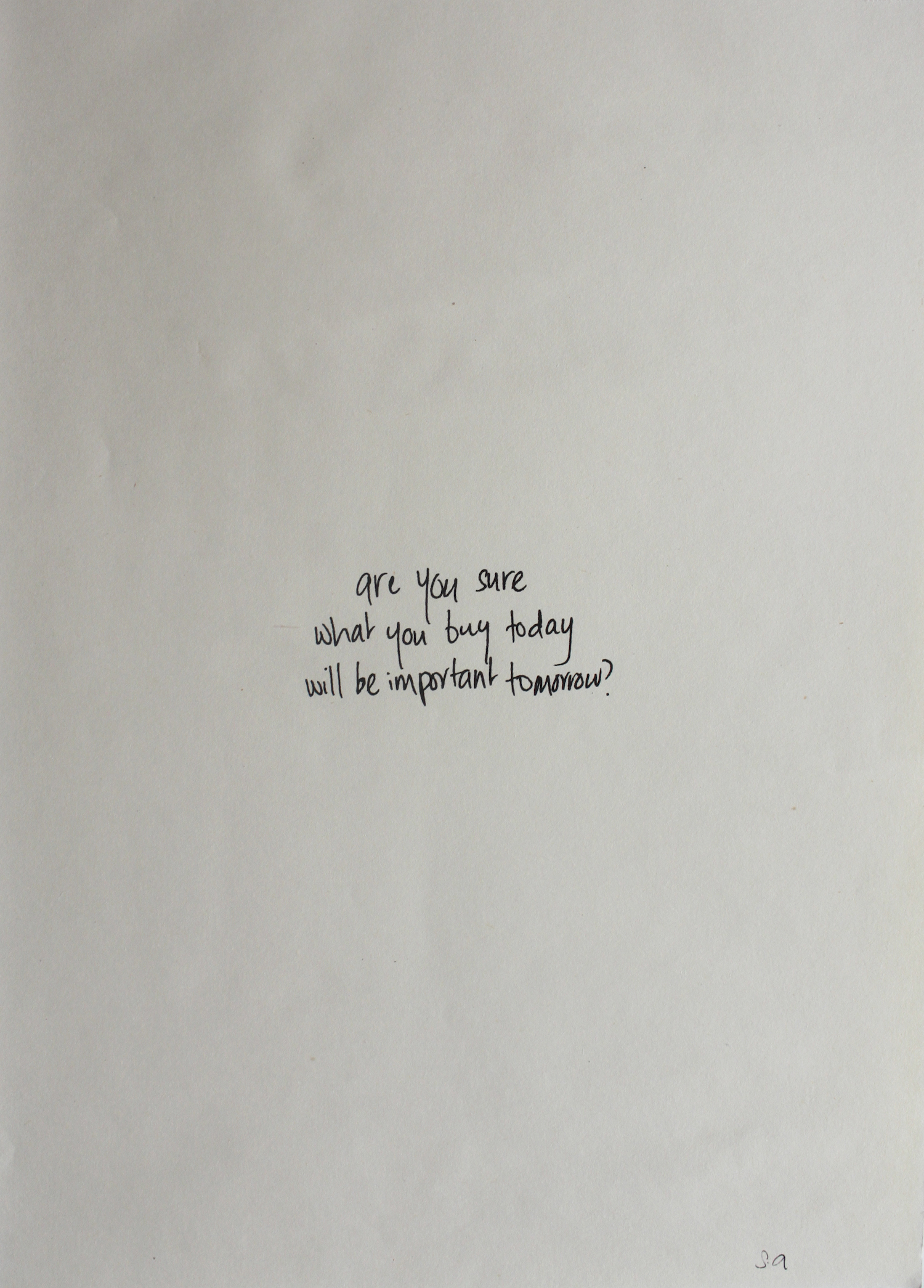 Saira Ansari  Out Loud Thoughts 2 2011 Ink jet print on paper 42 x 29.5 cm Edition of 5