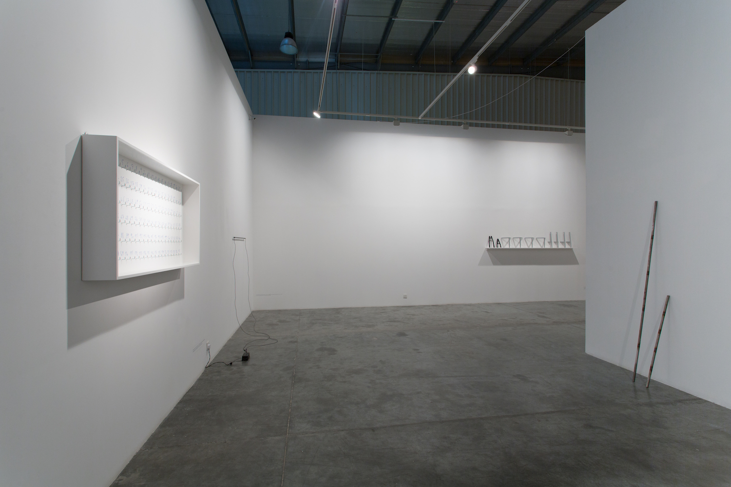 Installation view / Intangible experiences, arrangements, and manoeuvres