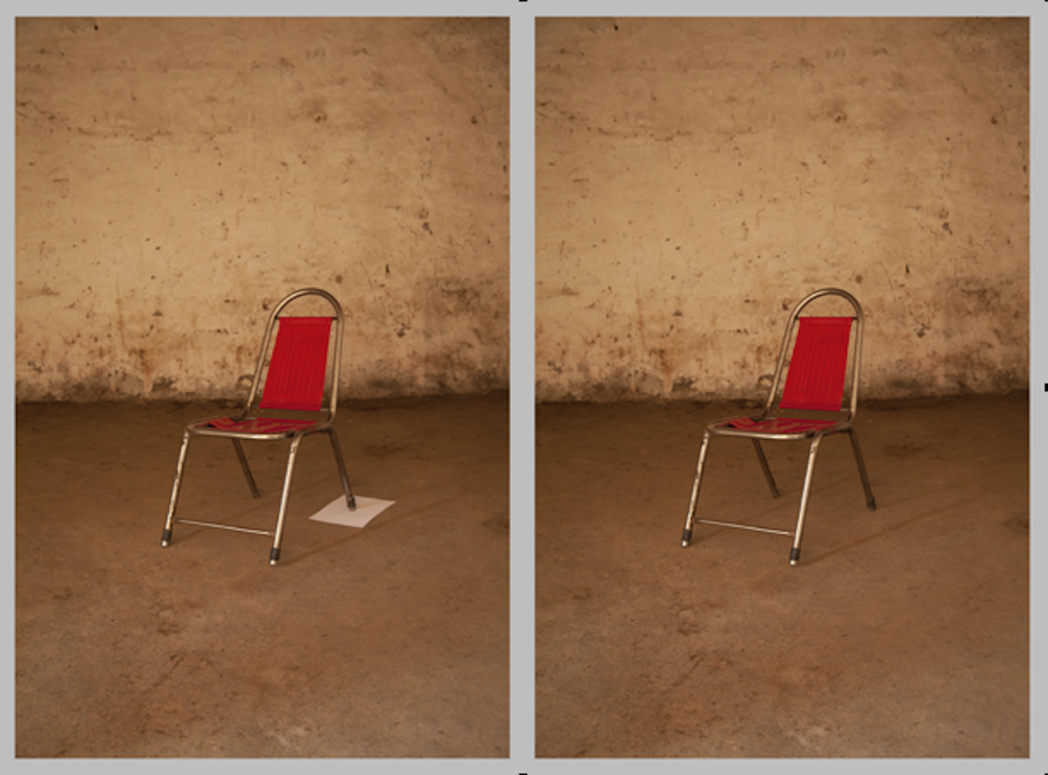 Basir Mahmood  A chair, somewhere  2013 Acrylic face mounted photo rag 64 x 86 cm