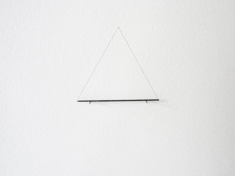 Dead drawing 2011 Lead, nails 13 x 11 cm 3 + 1AP