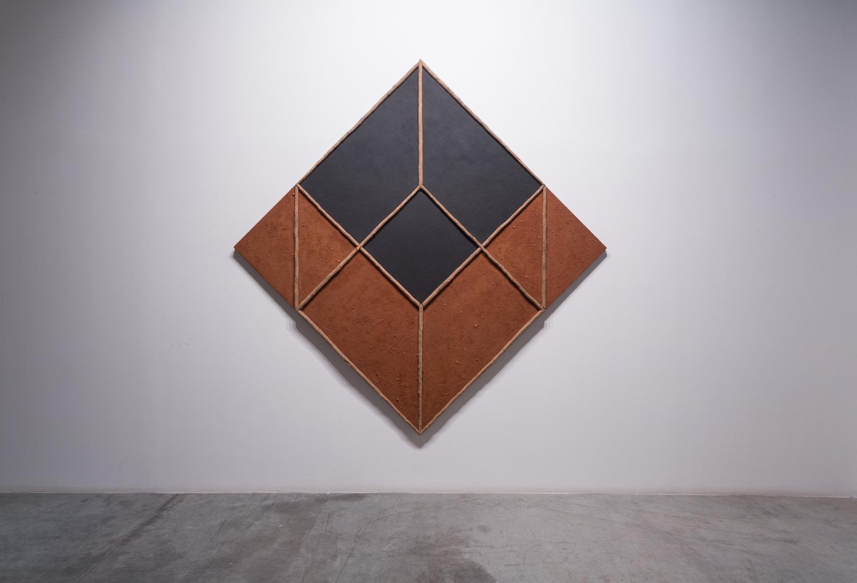 Empty Cube 1985 Wood, earth, sand, black iron oxide 274 x 274 cm