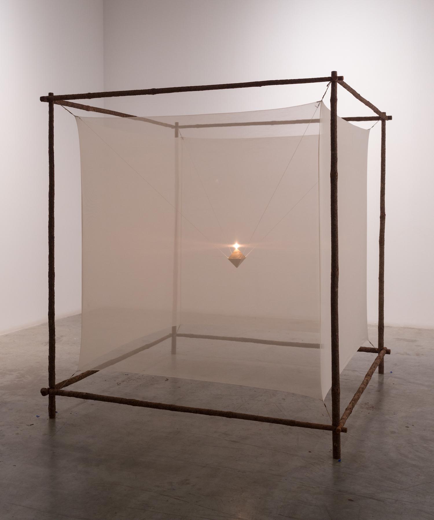 Light Within II 1982 Wood, fabric, ceramic, oil burner 182 x 182 x 182 cm