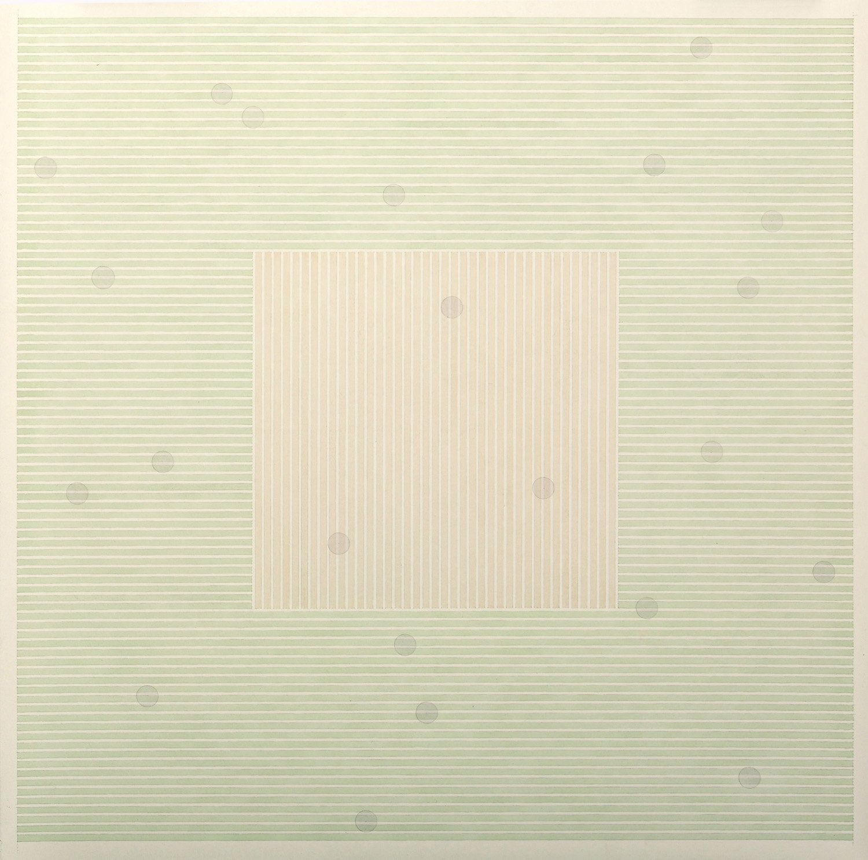 Fahd Burki  Winter's end 2016 Graphite pencil and acrylics on paper 56.5 x 56.5 cm